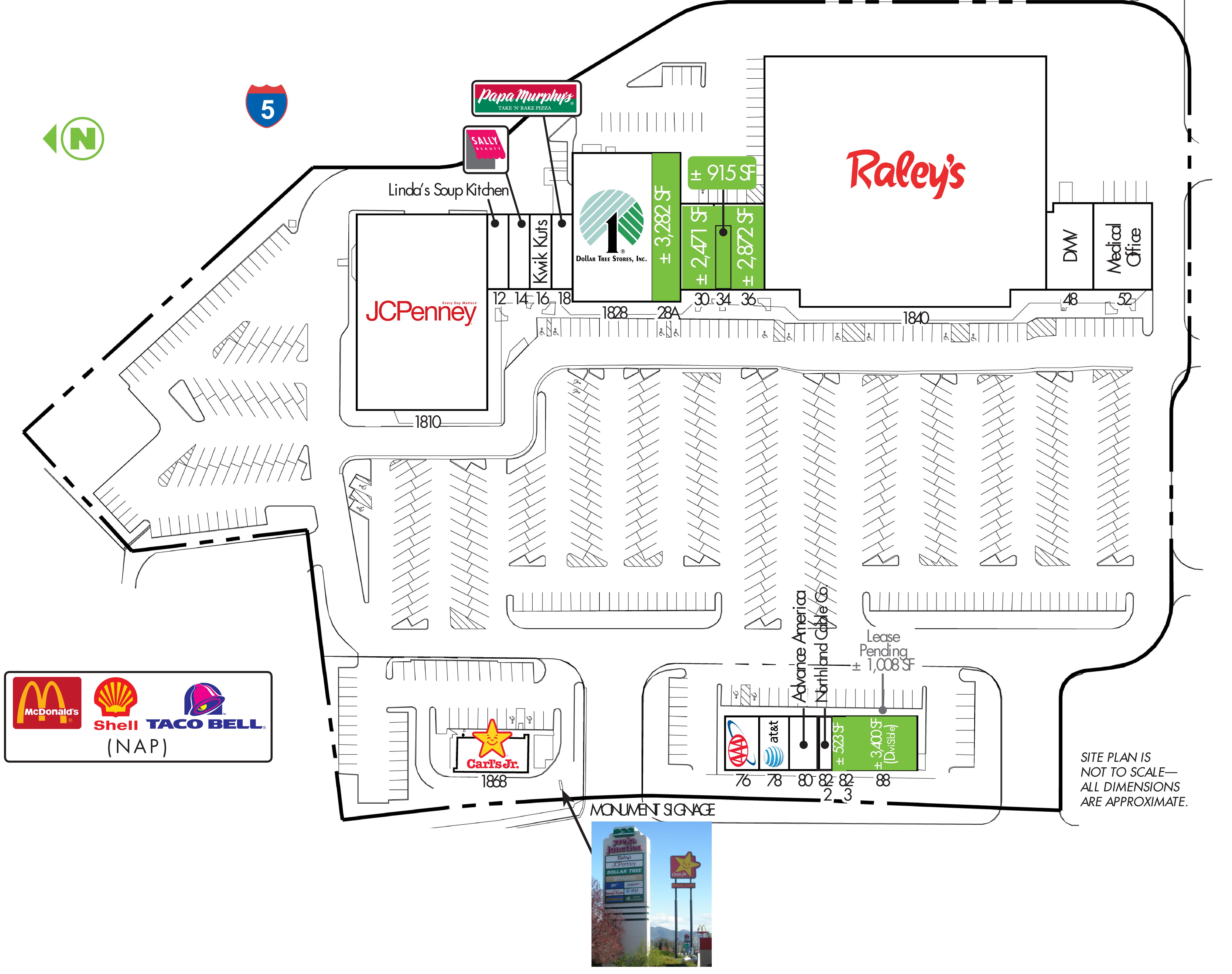 Yreka Junction: site plan