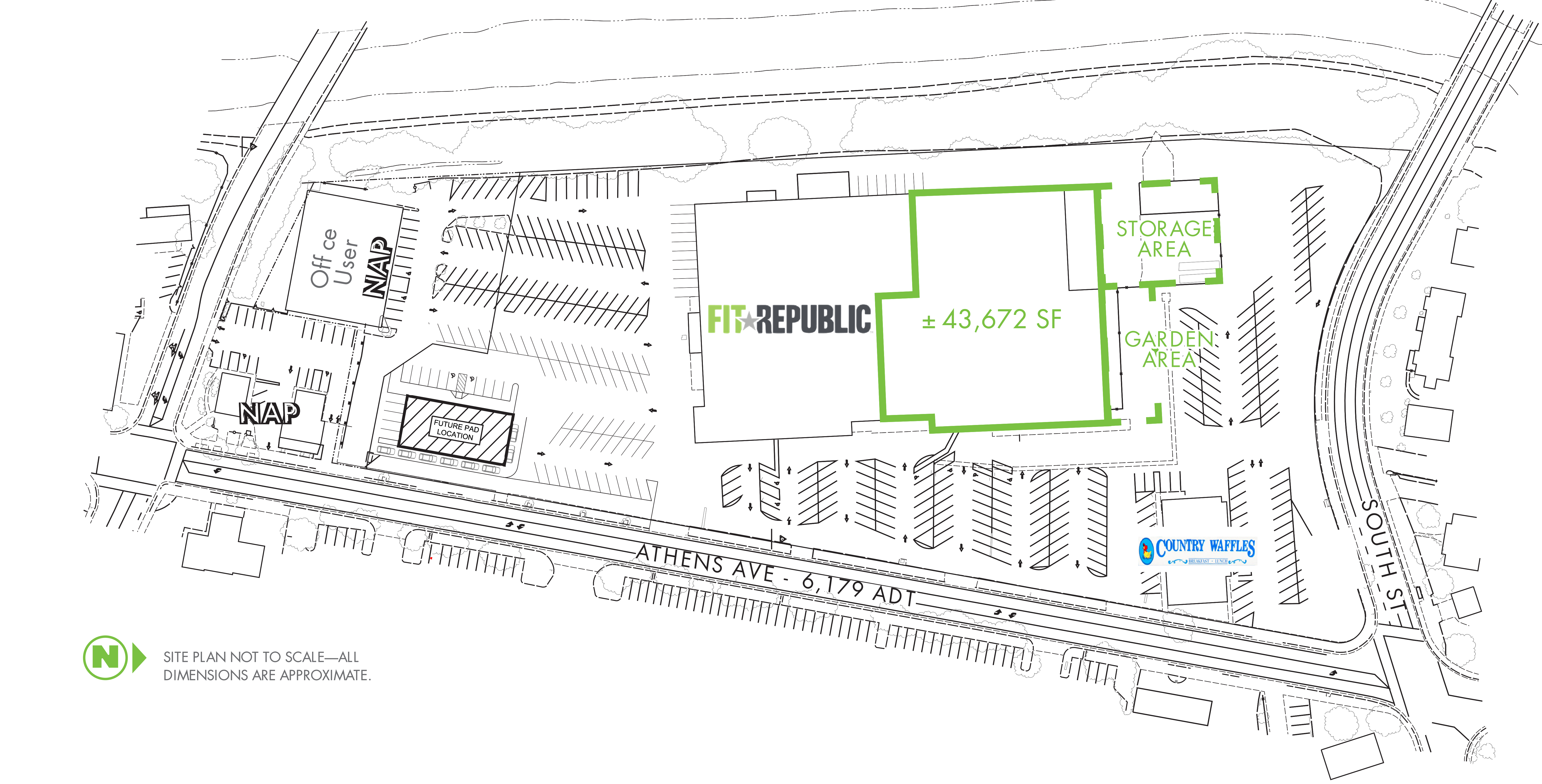 Athens Plaza: site plan