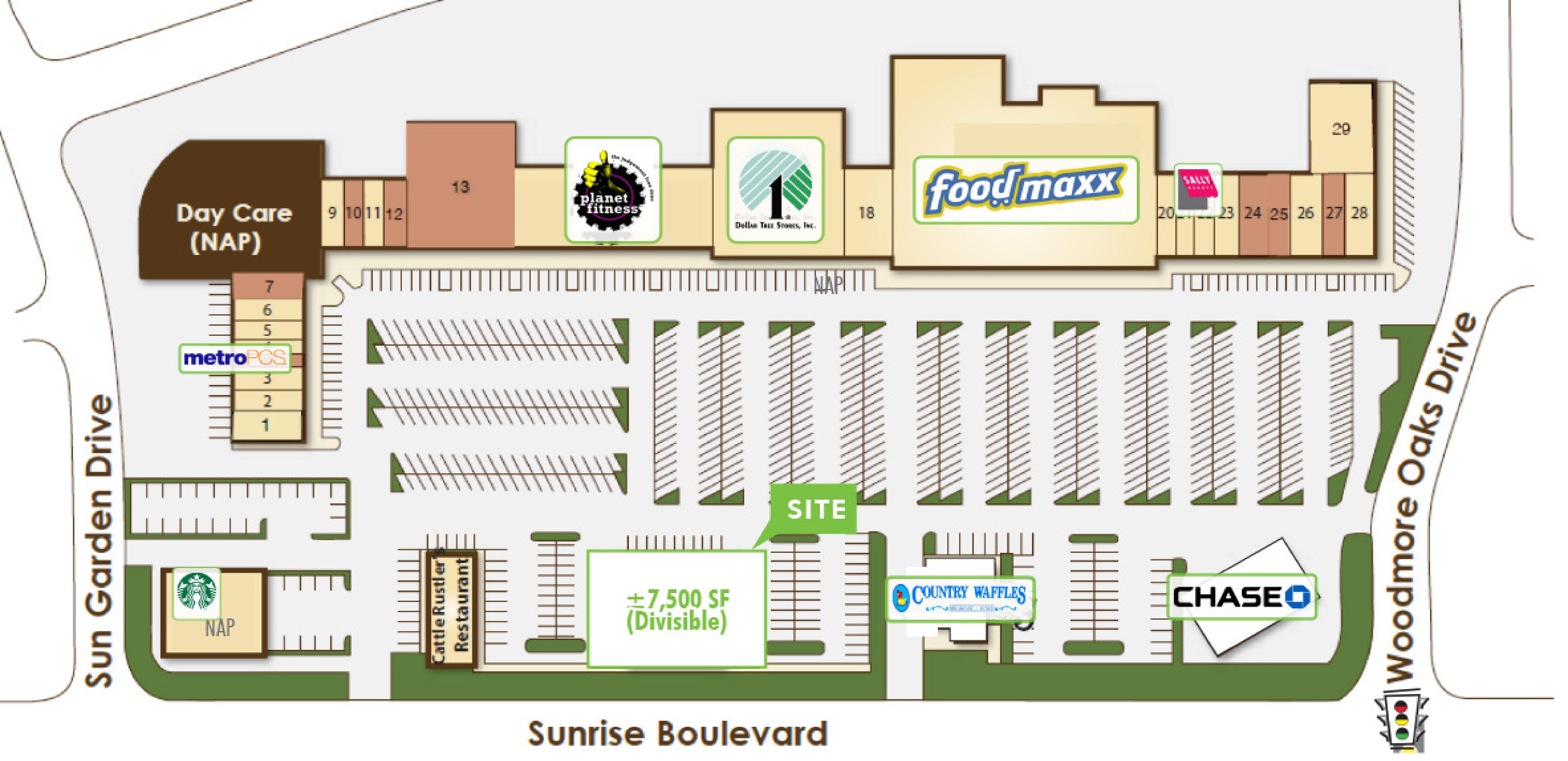Copperwood Square Pad: site plan