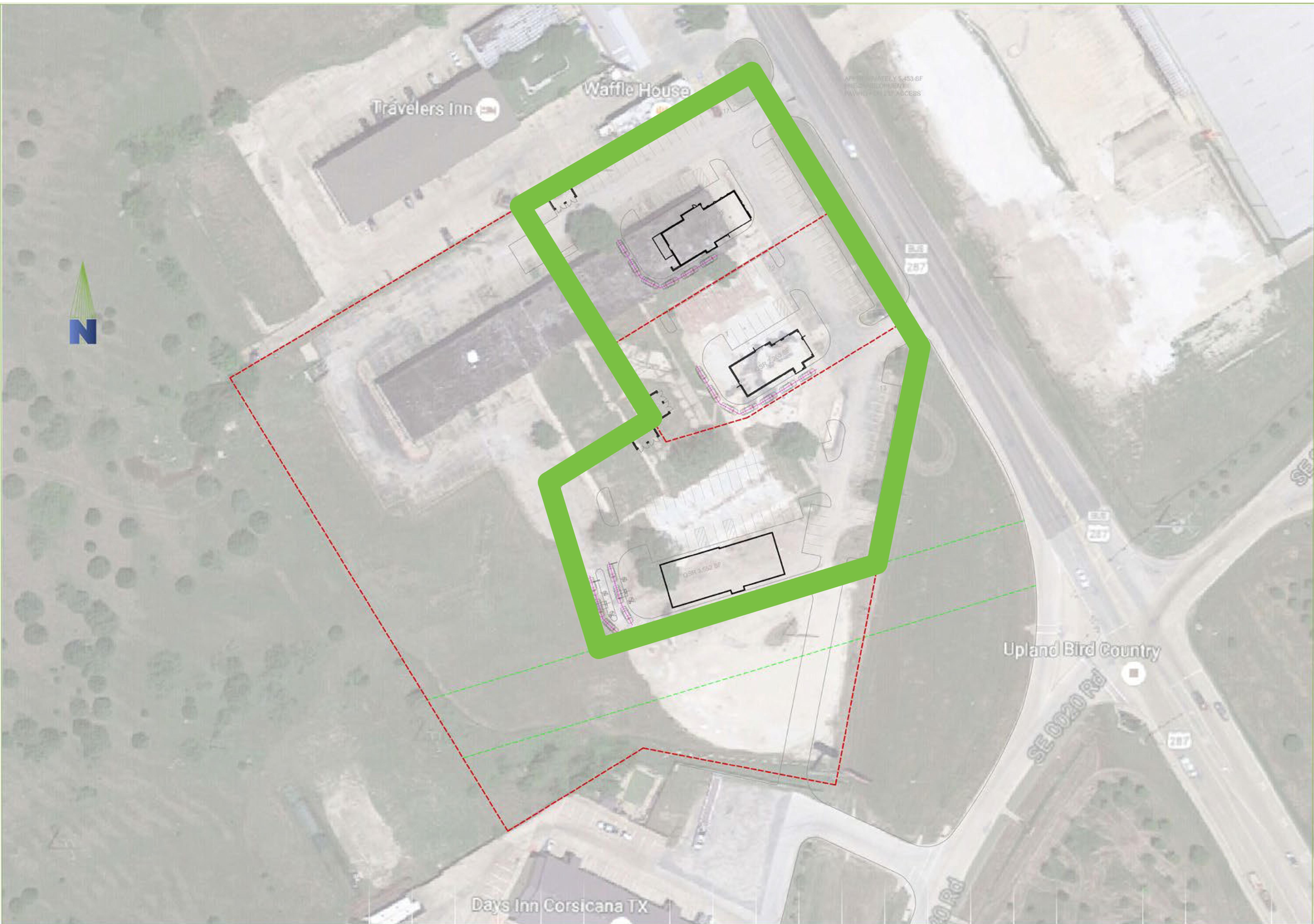 I-45 & Hwy 287: site plan