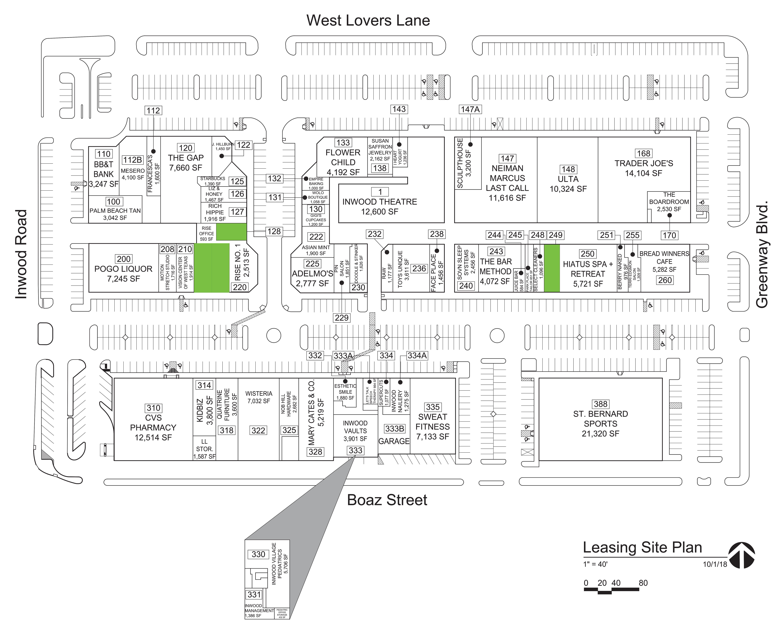 Inwood Village: site plan