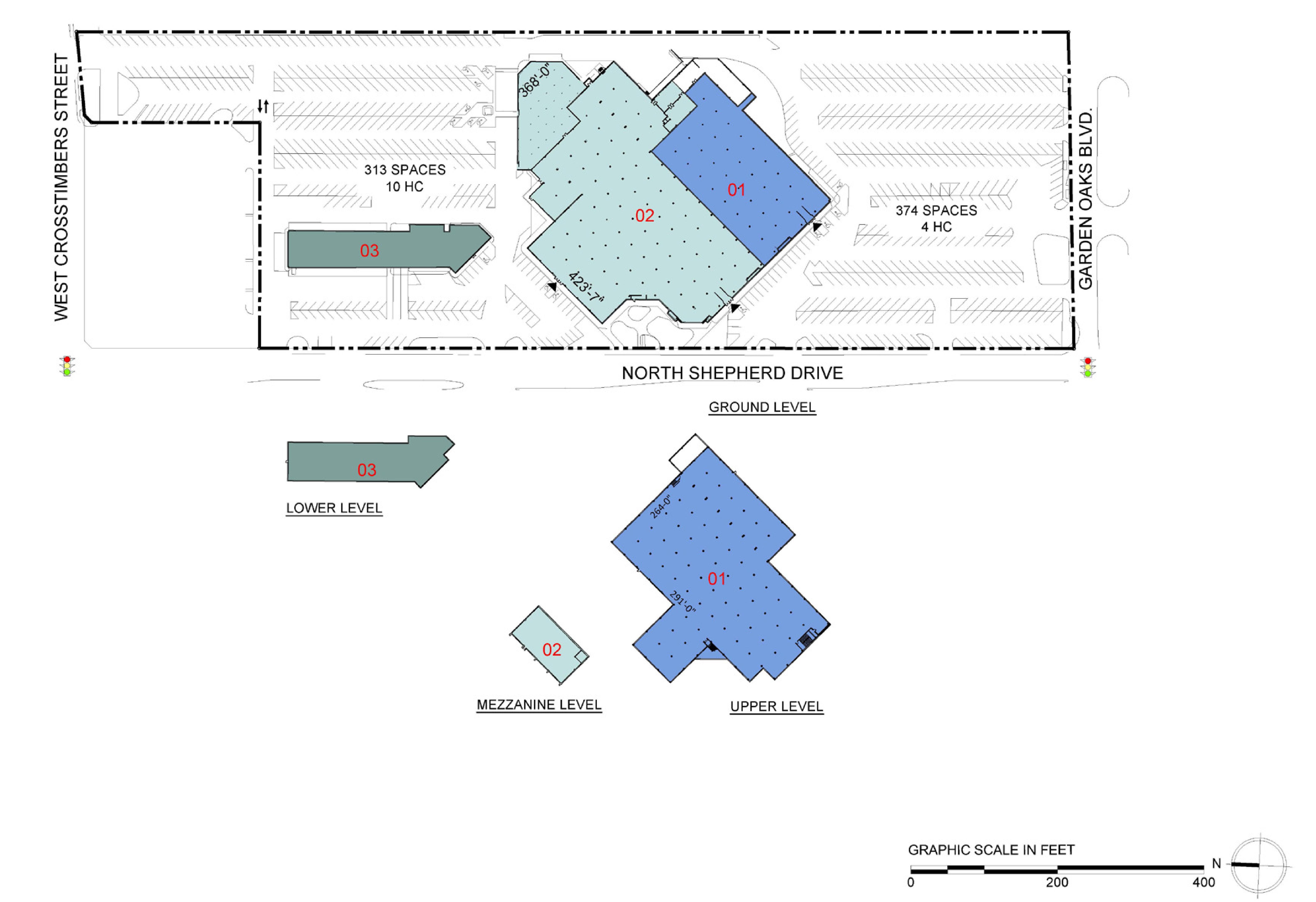 N Shepherd Dr: site plan