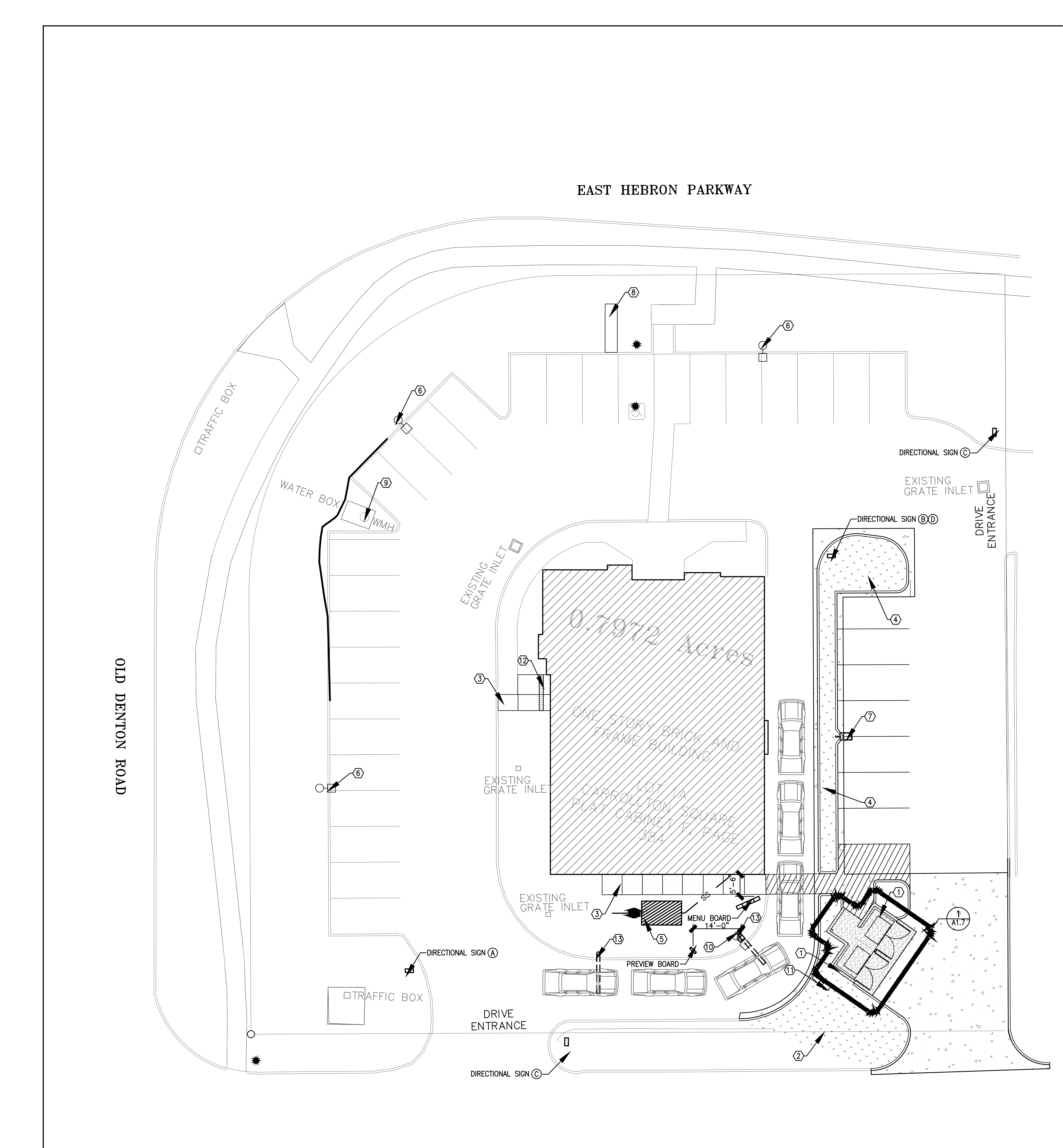 1000 E Hebron Pkwy: site plan