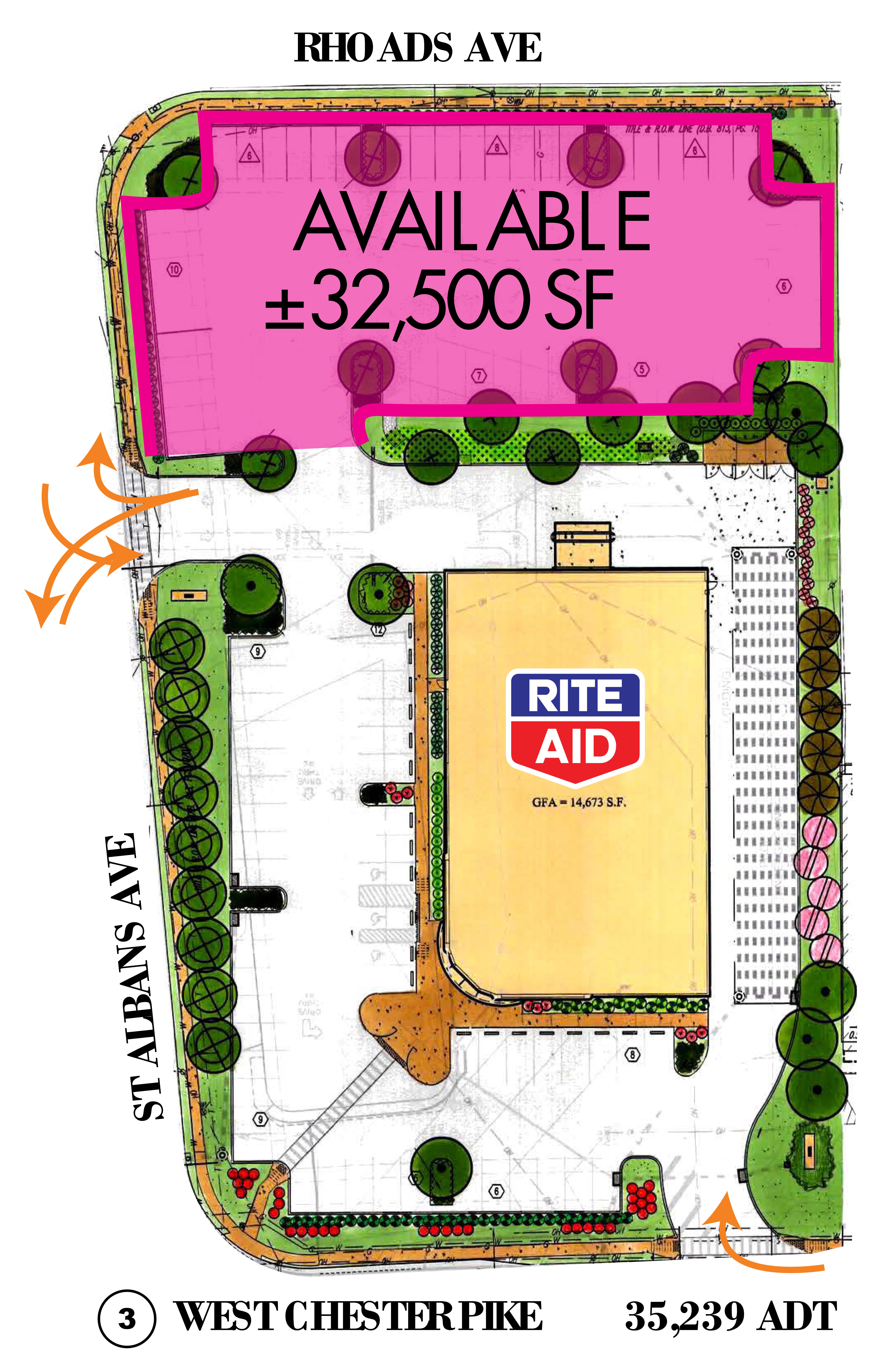 Newtown Square, PA: site plan