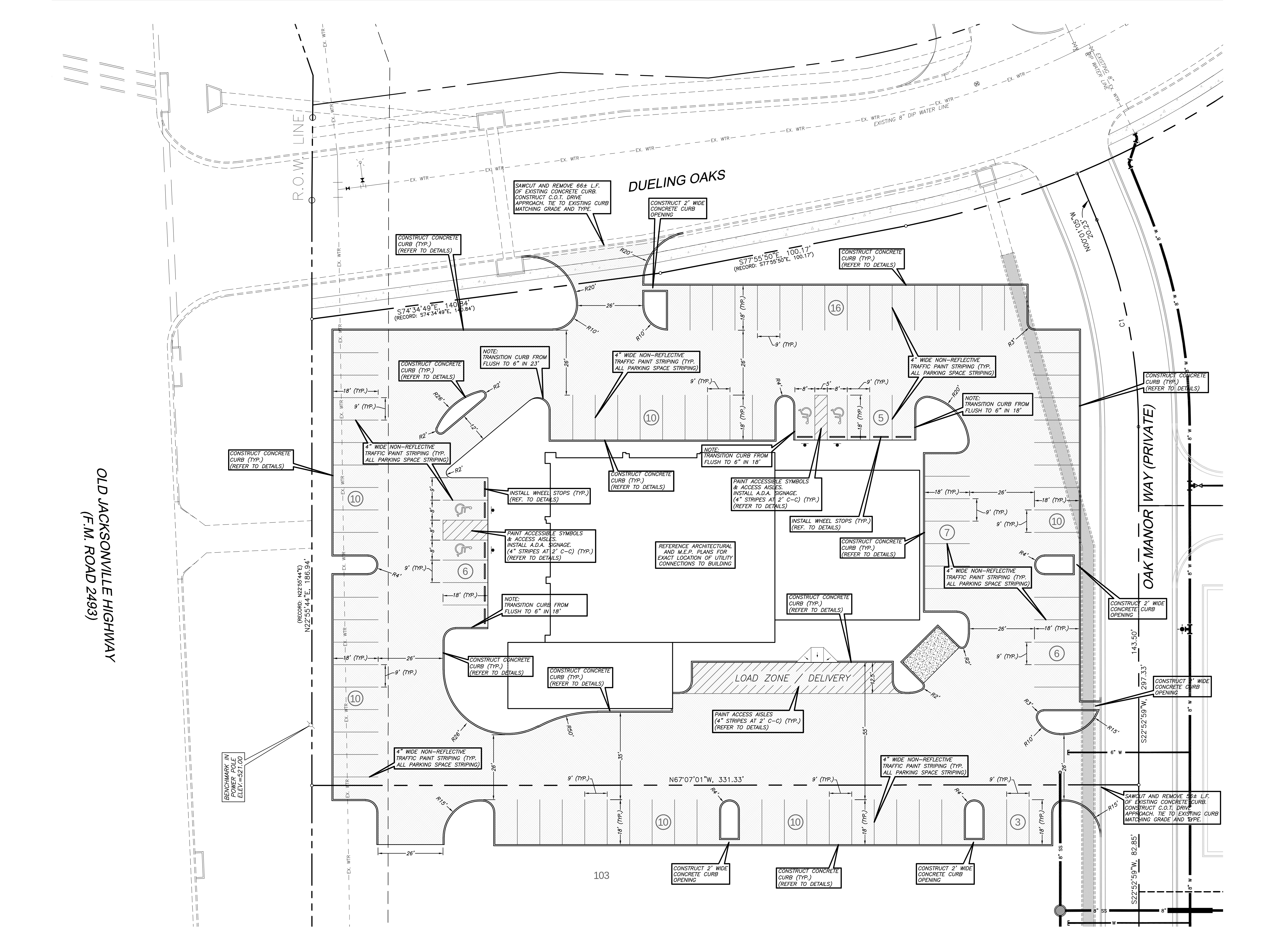 2376 Dueling Oaks Dr: site plan