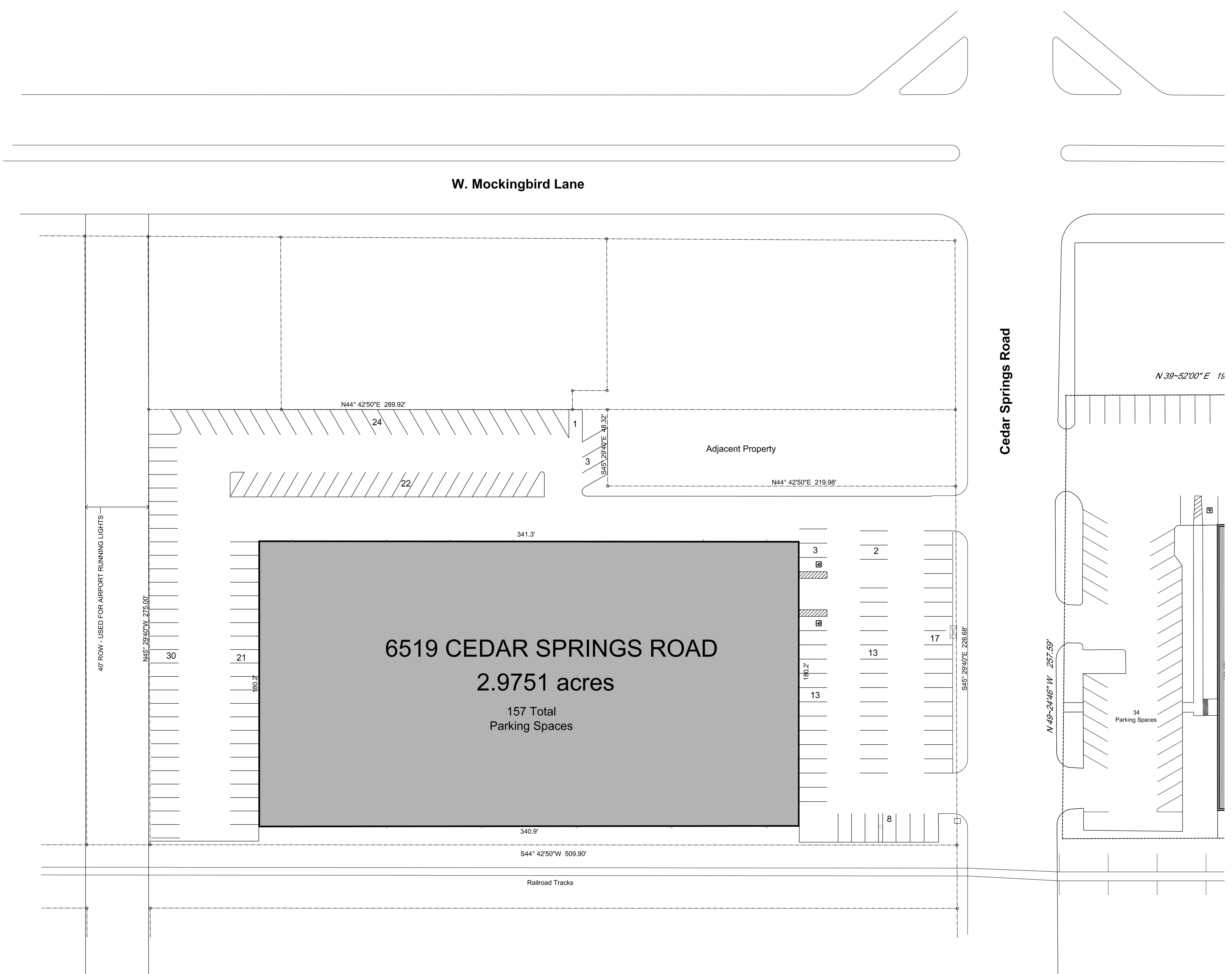 6519 Cedar Springs Rd: site plan