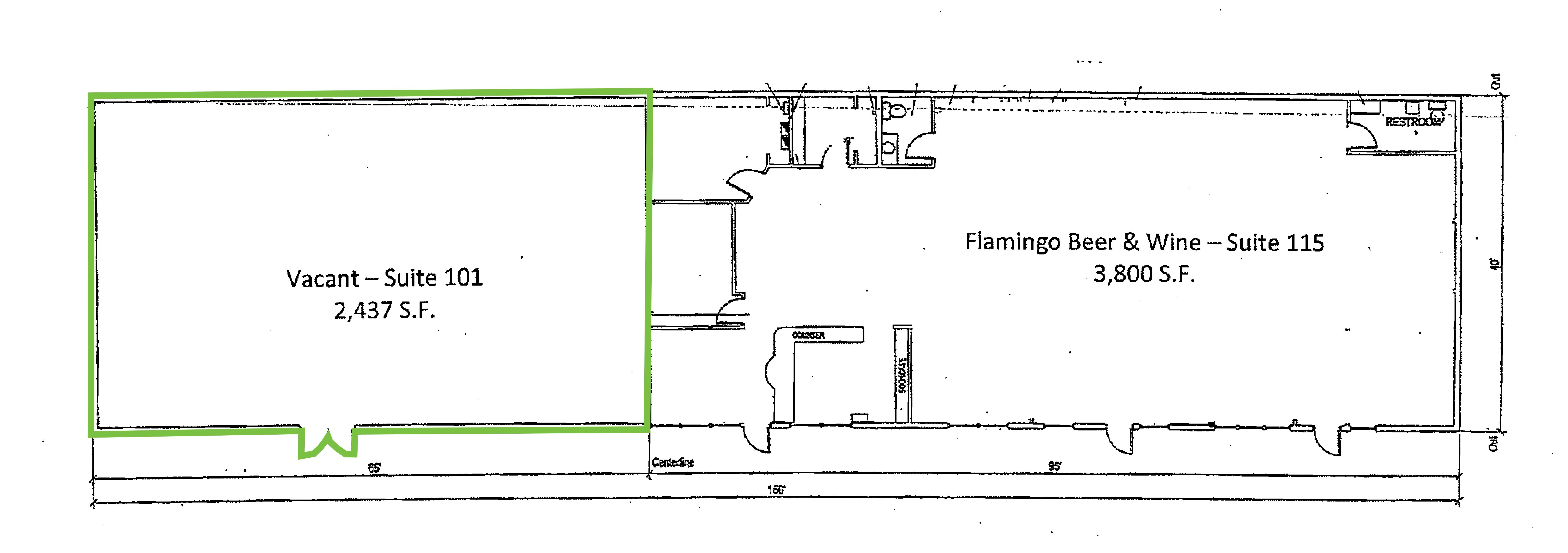Davenport Shopping Center: site plan