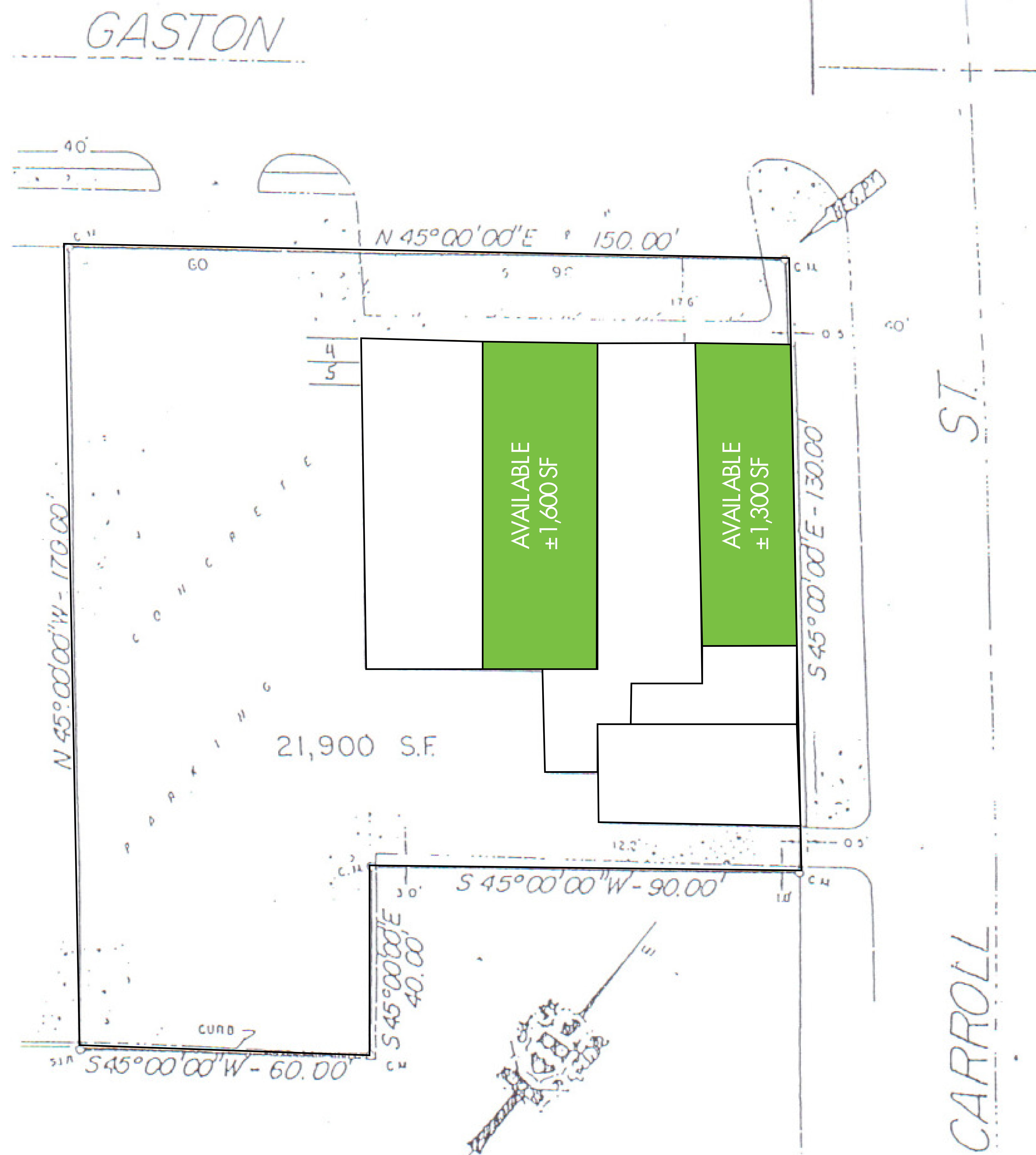 Gaston Retail Center: site plan
