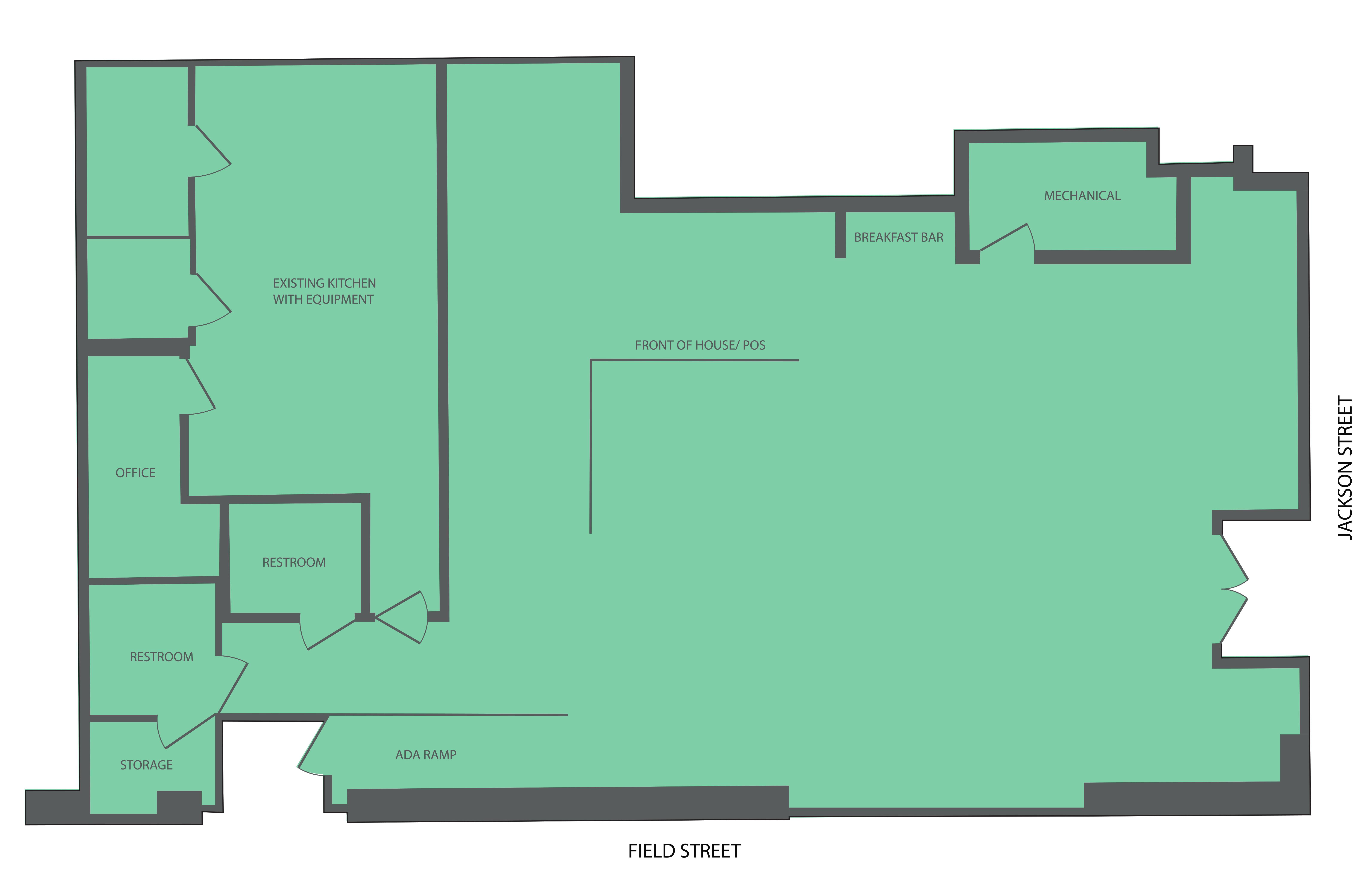 1300 Jackson Street: site plan