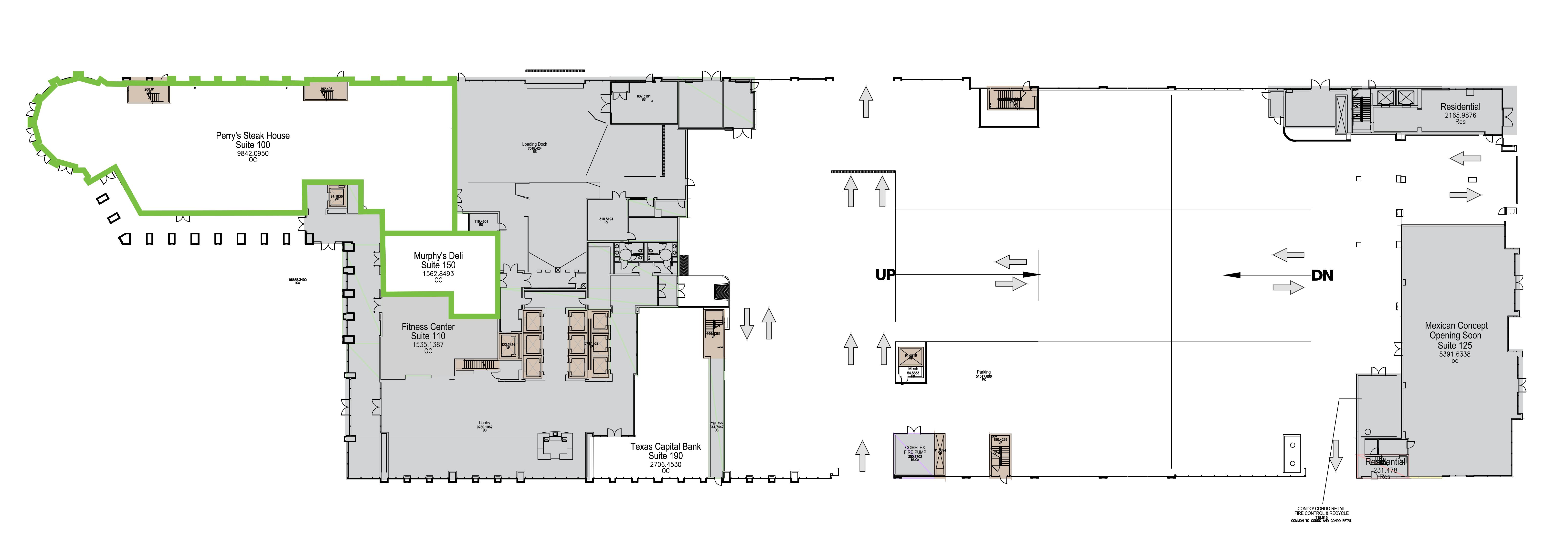 2000 McKinney Ave - 2nd Gen Restaurant: site plan