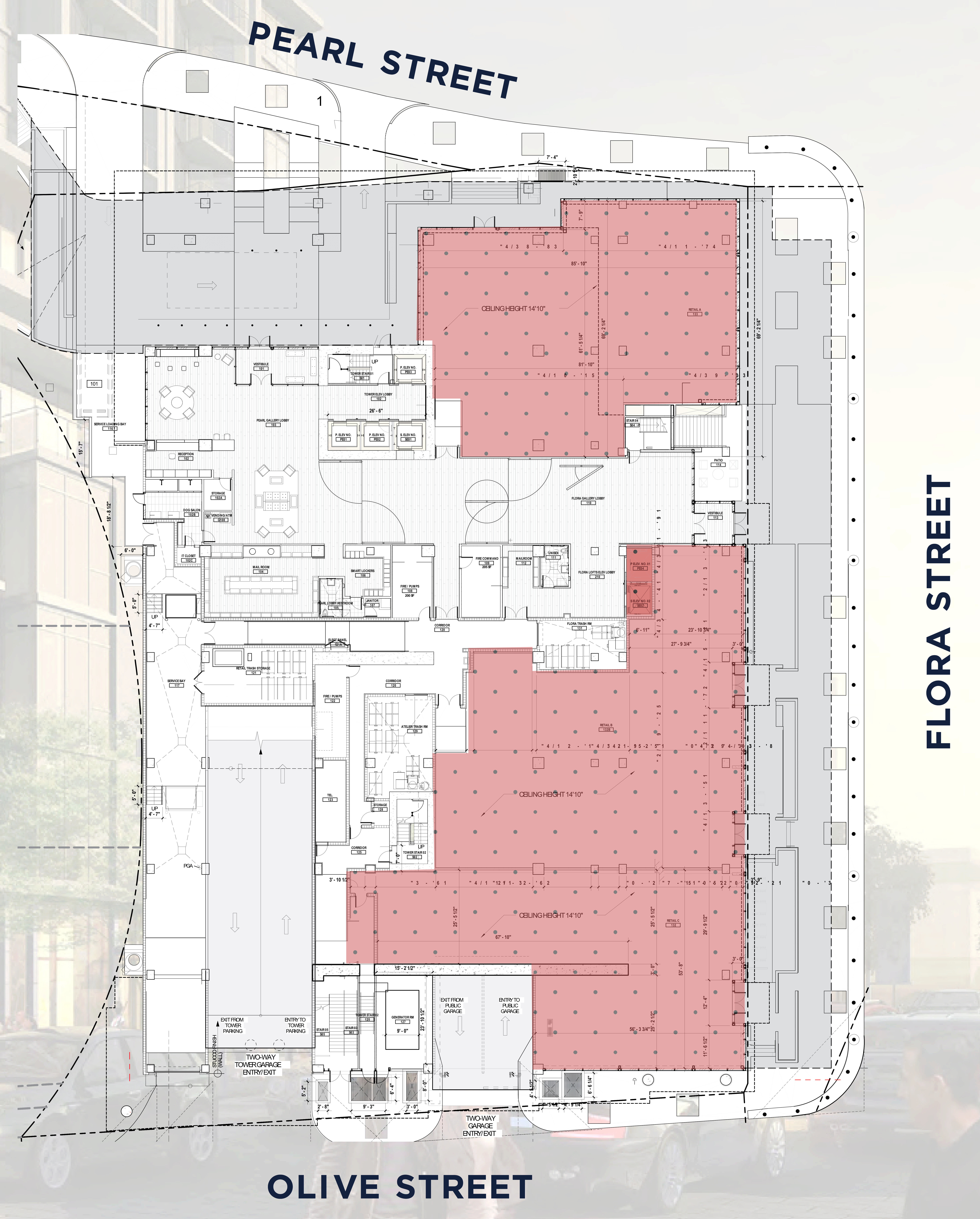 Atelier - Dallas Arts District: site plan
