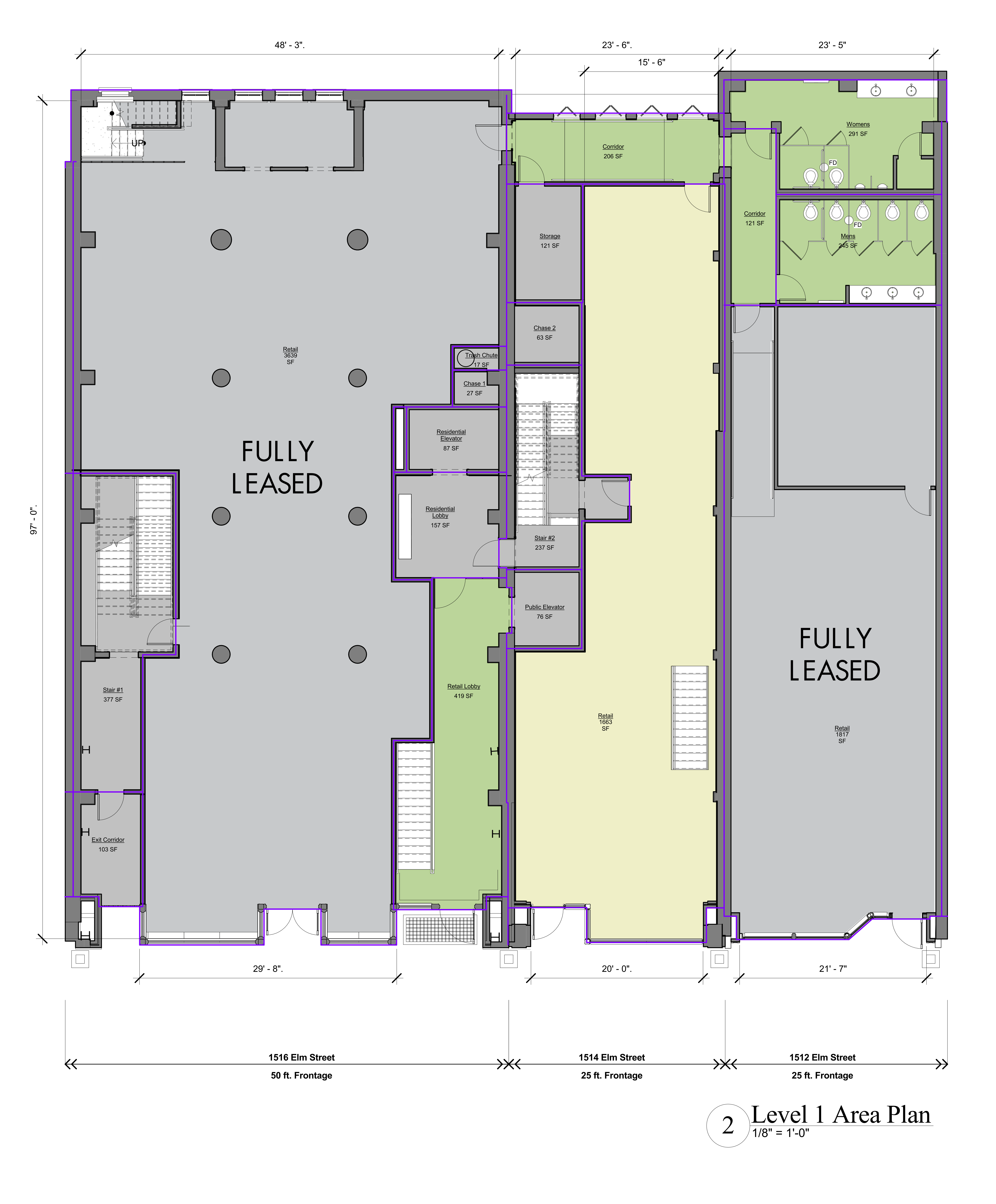 Mid Elm Lofts: site plan