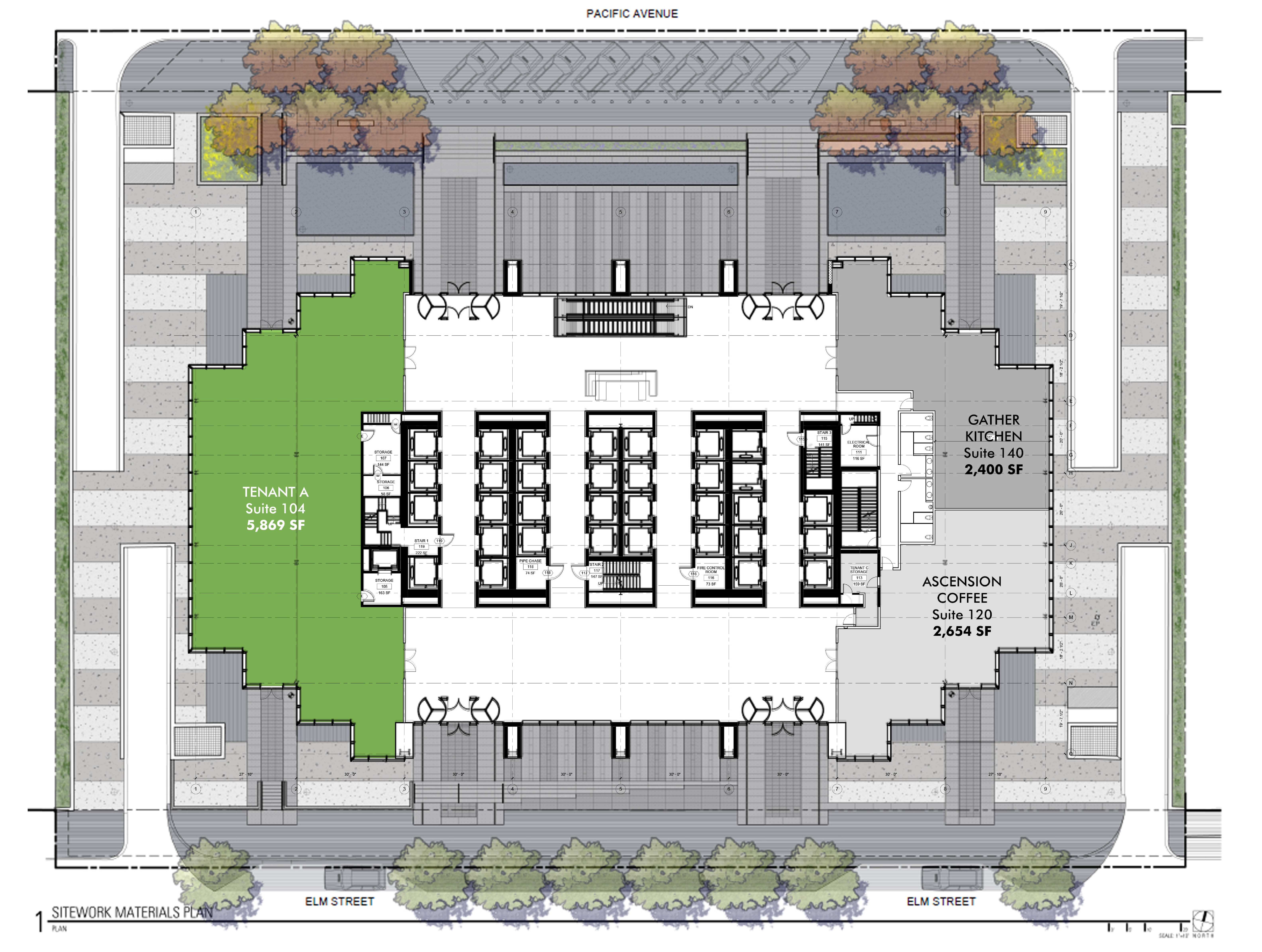 Thanksgiving Tower Retail: site plan