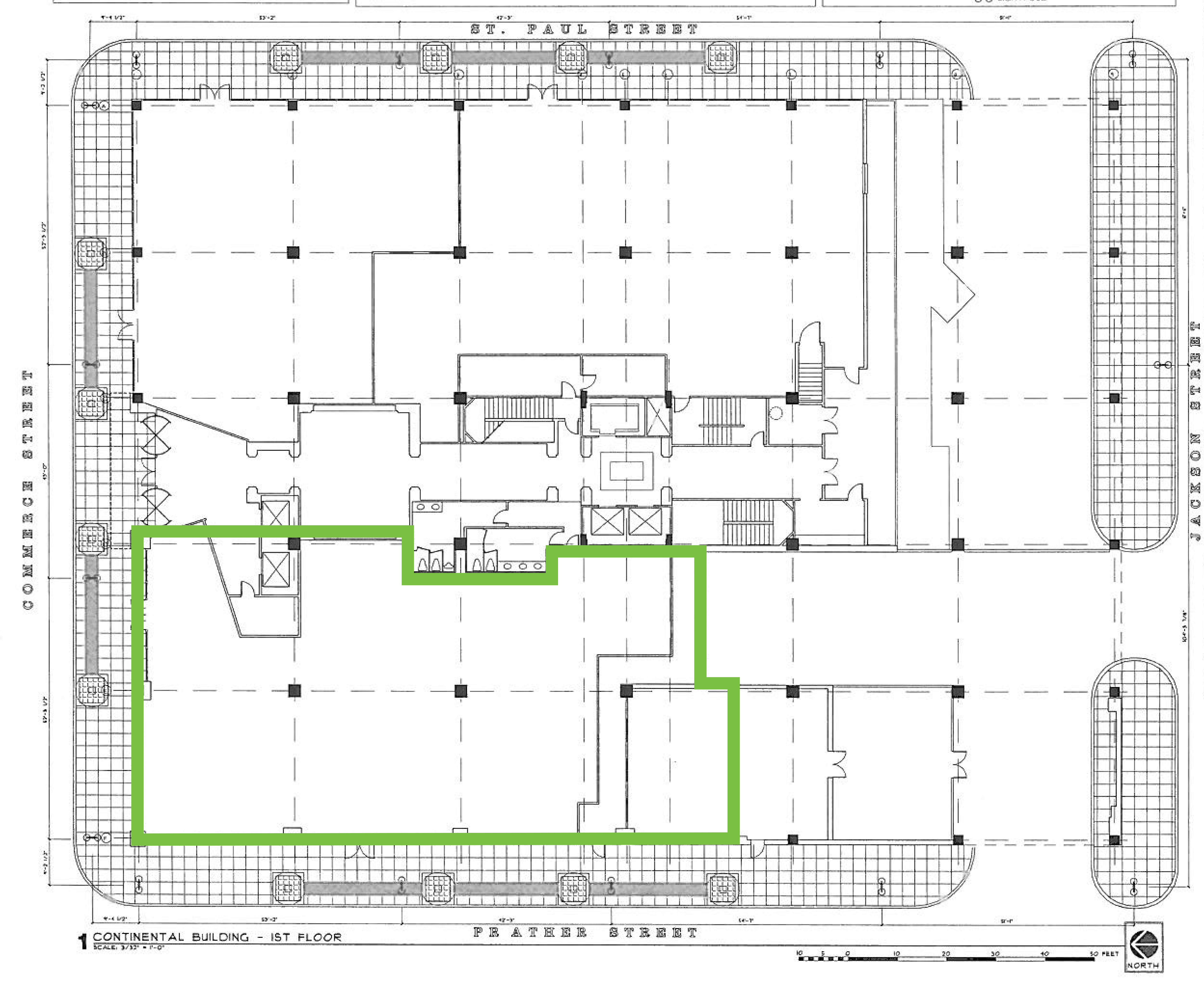 The Continental Building: site plan