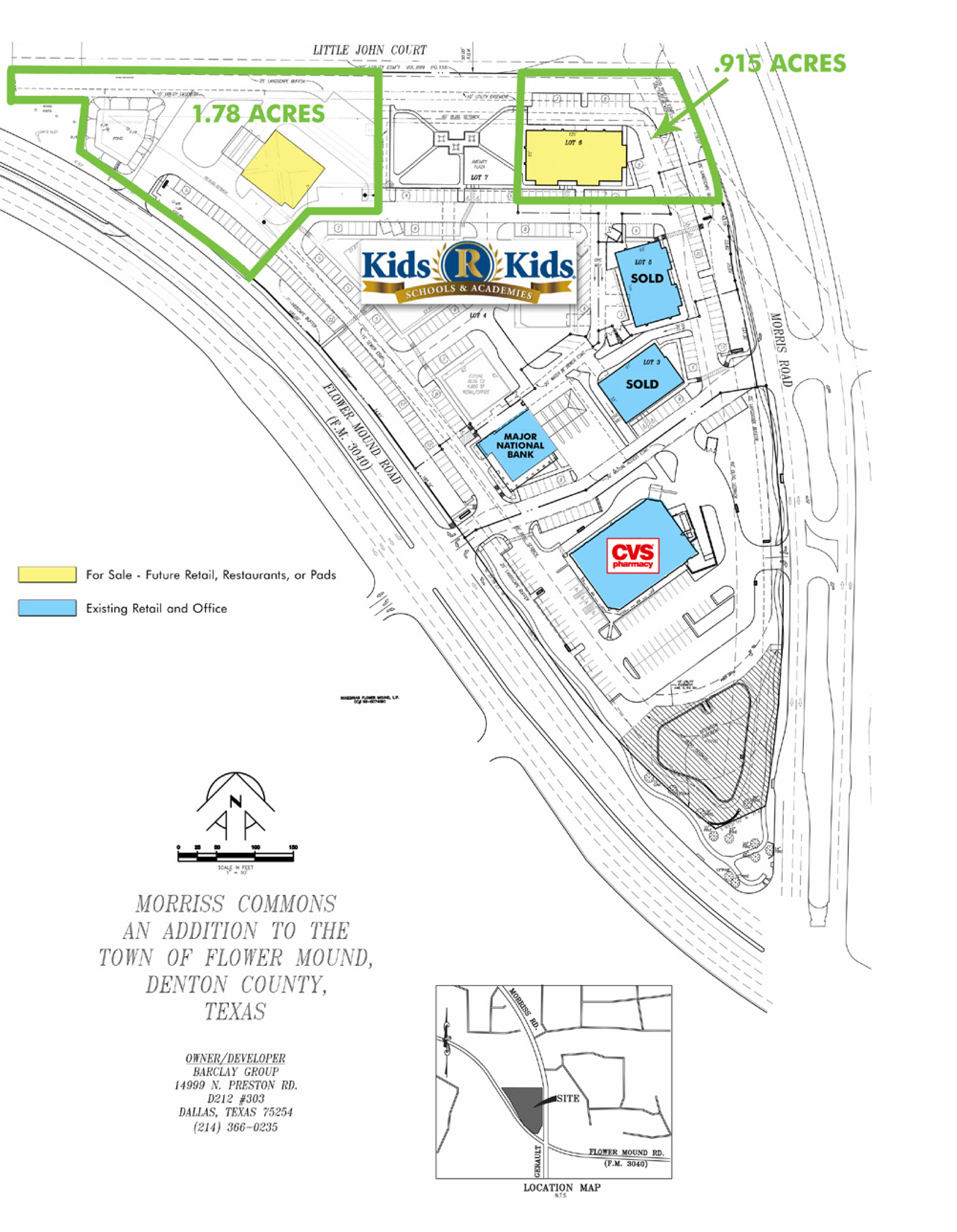 Morriss Commons: site plan