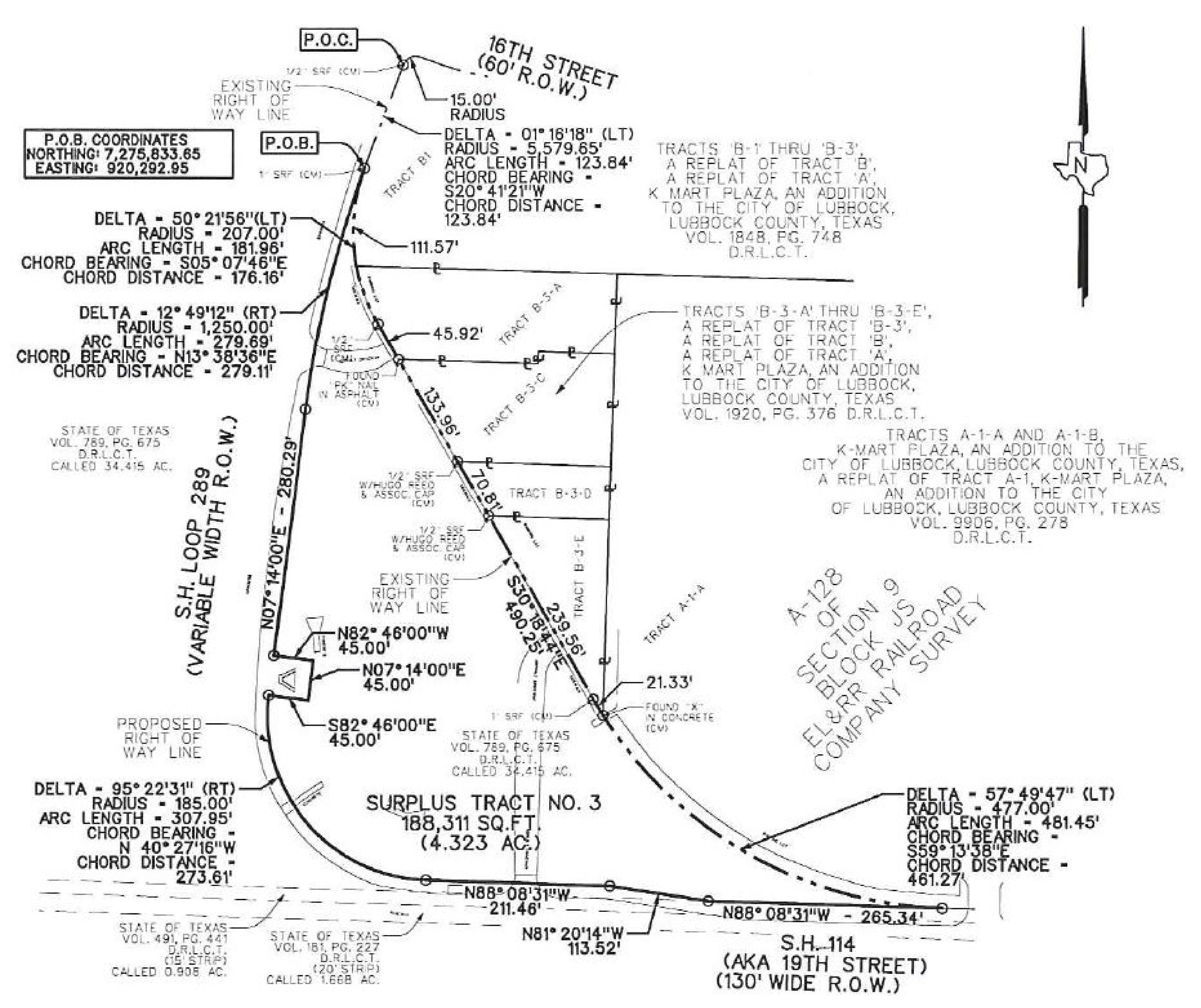 NEC Loop 289 & 19th St: site plan