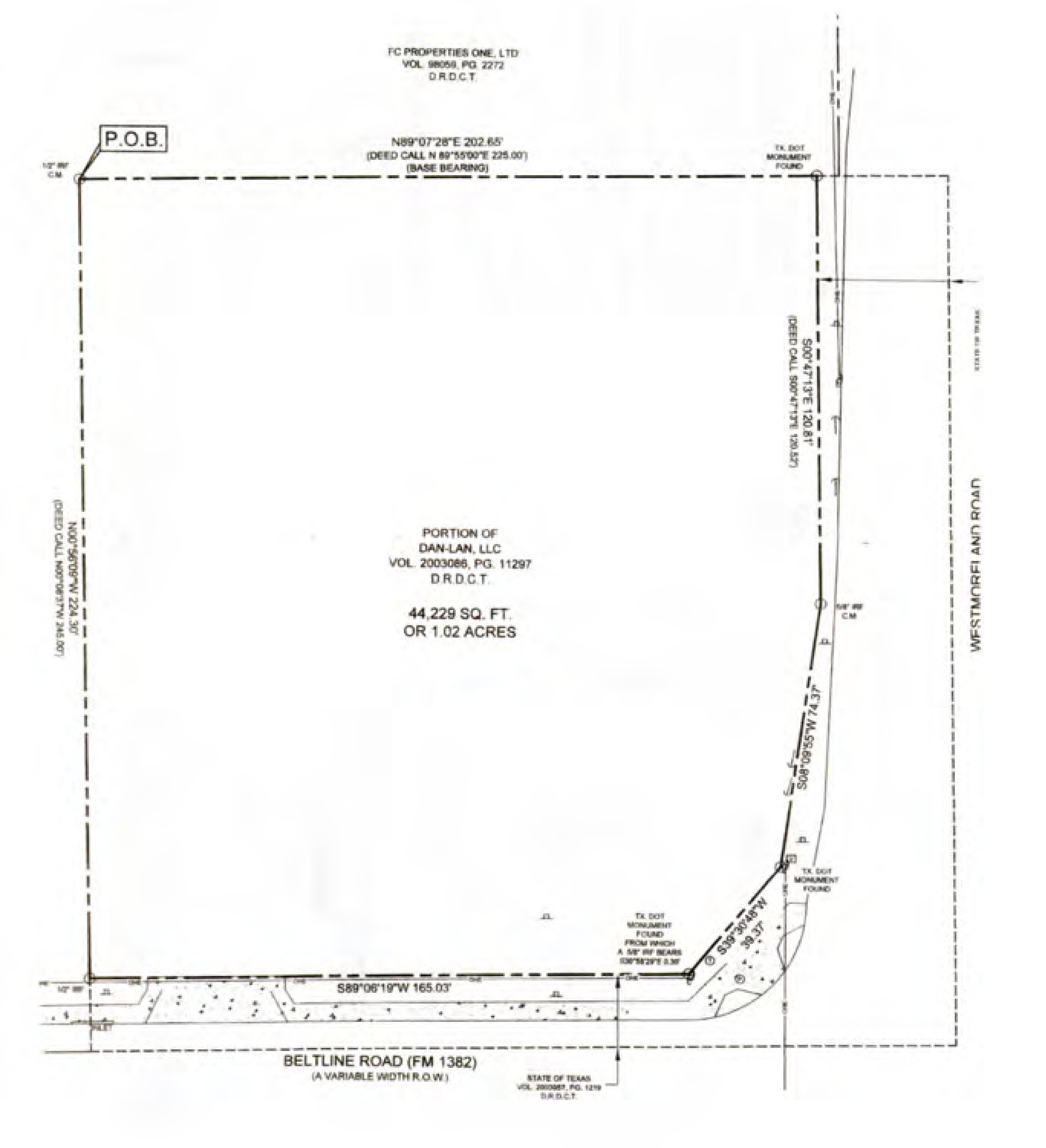 NWC Belt Line Rd & Westmoreland Rd: site plan