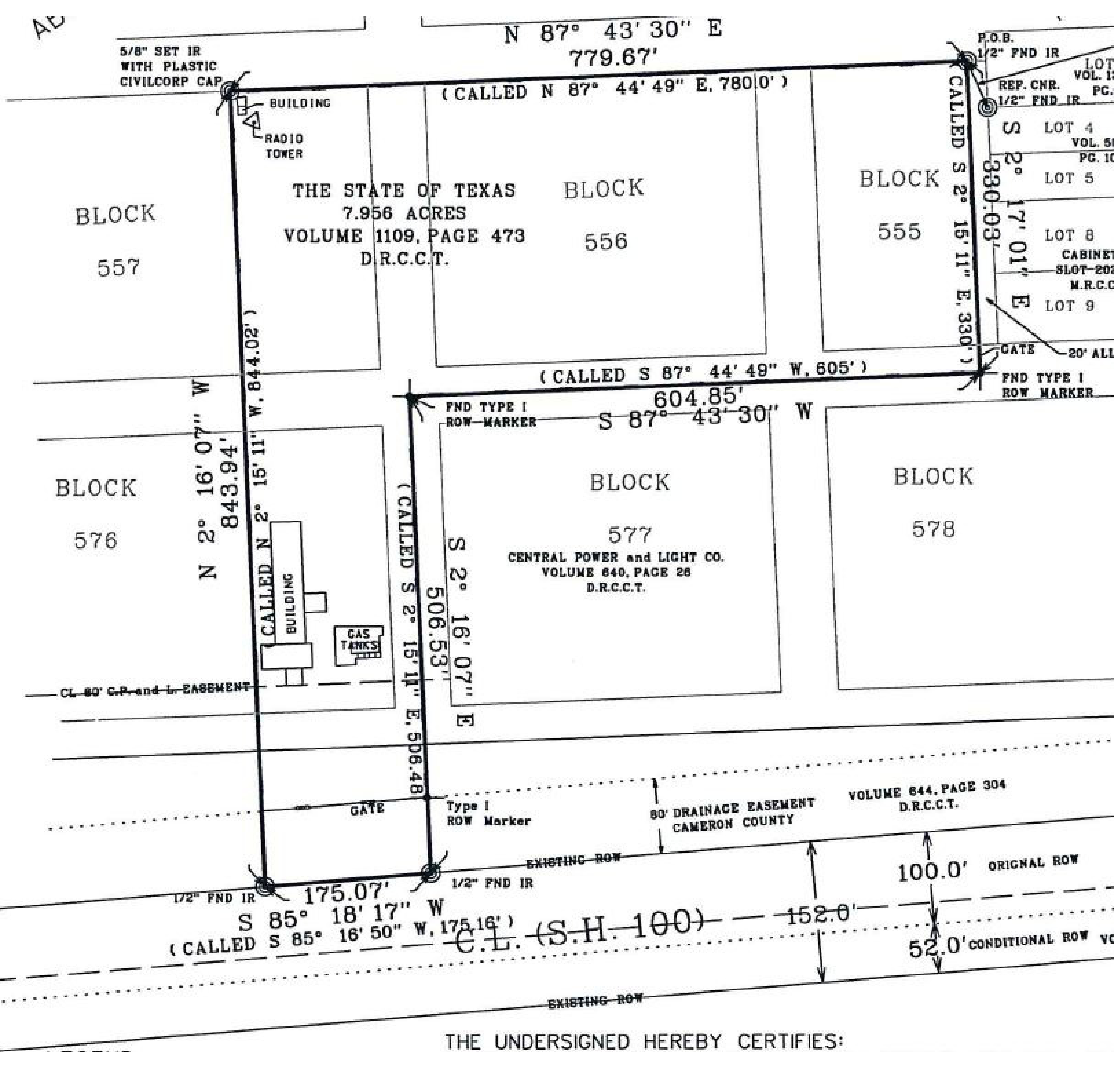 NWC Hibiscus Dr & F Ave: site plan