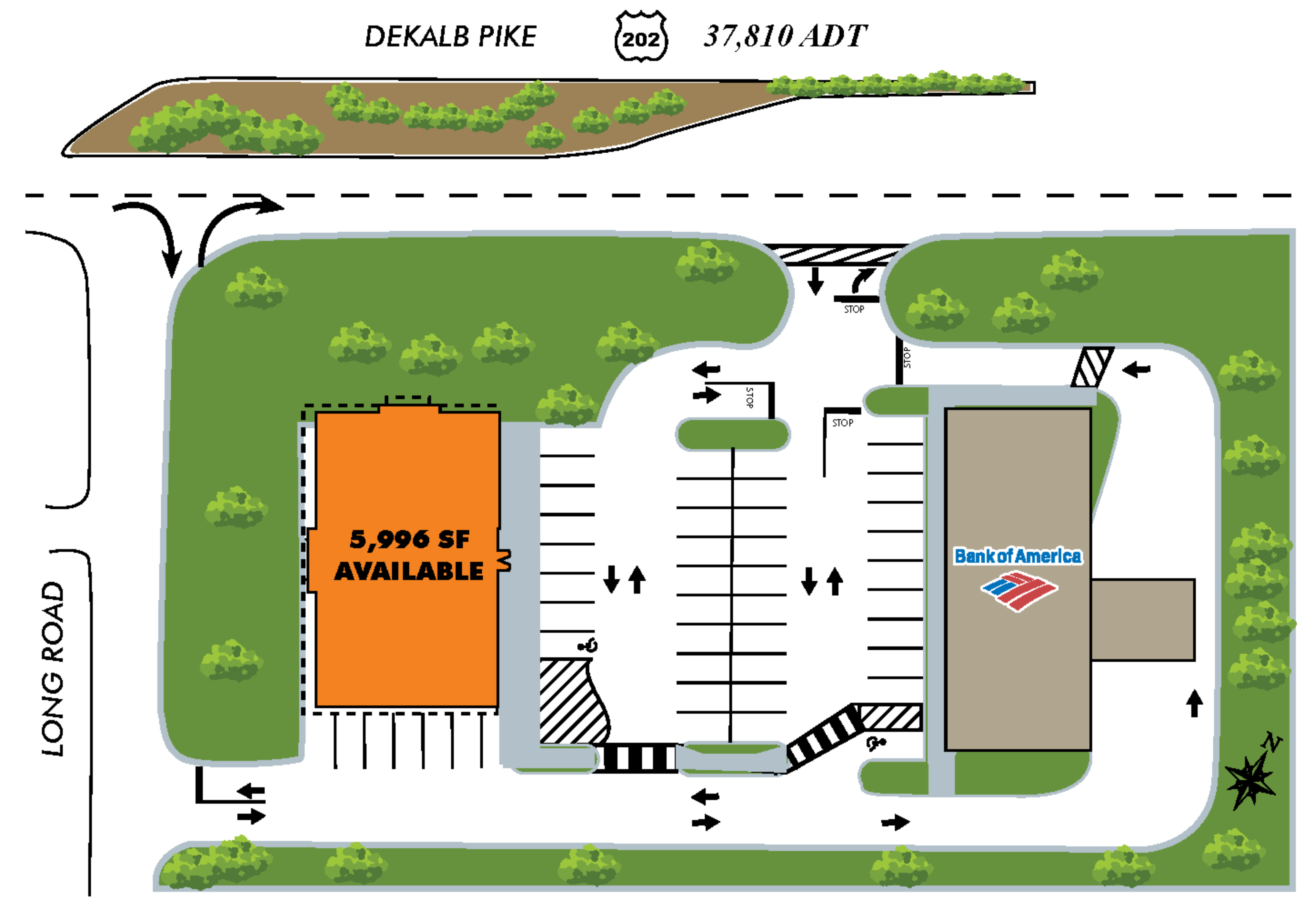 625 West Dekalb Pike: site plan