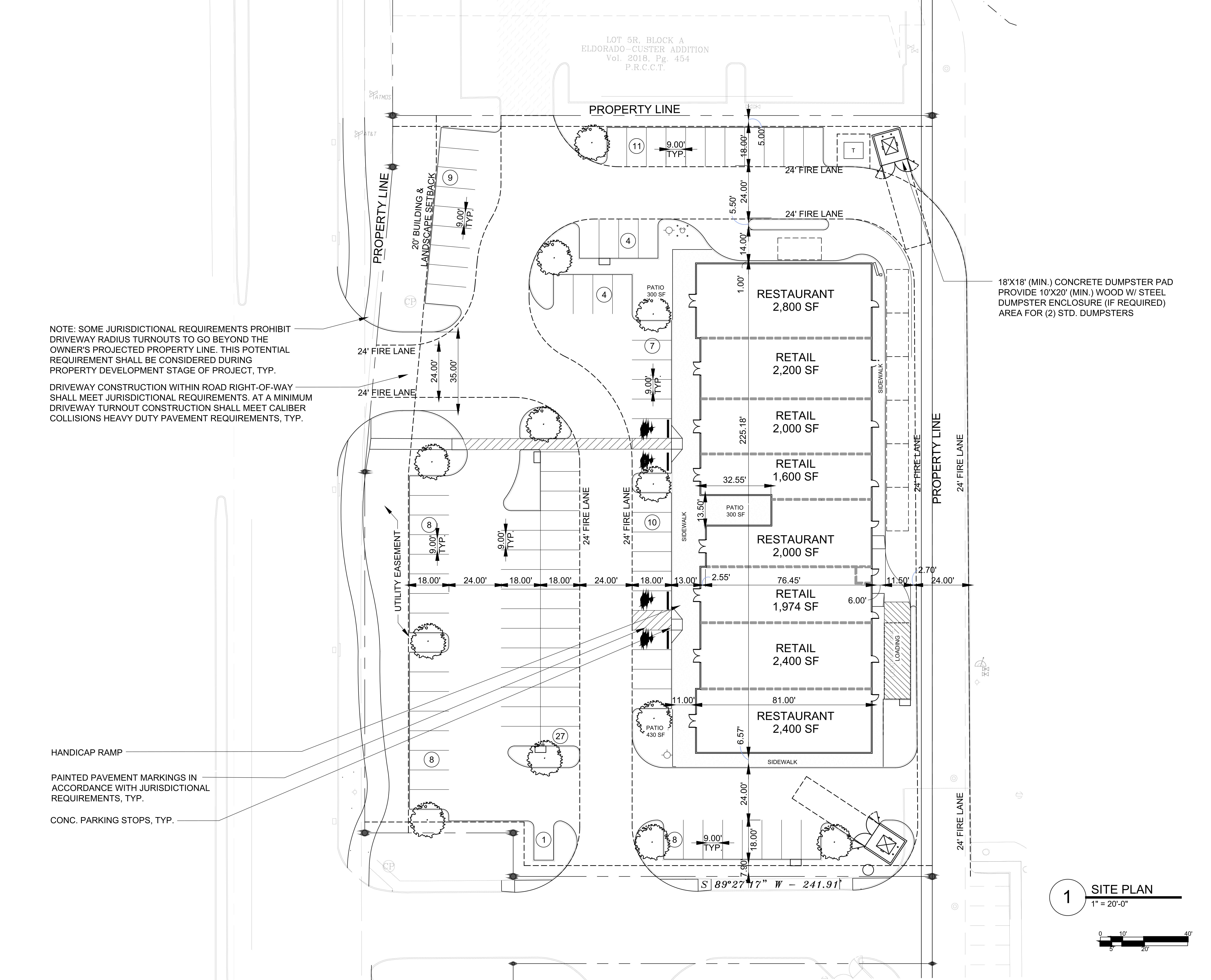 SEQ Custer Rd & Eldorado Pkwy aEUR Phase II: site plan