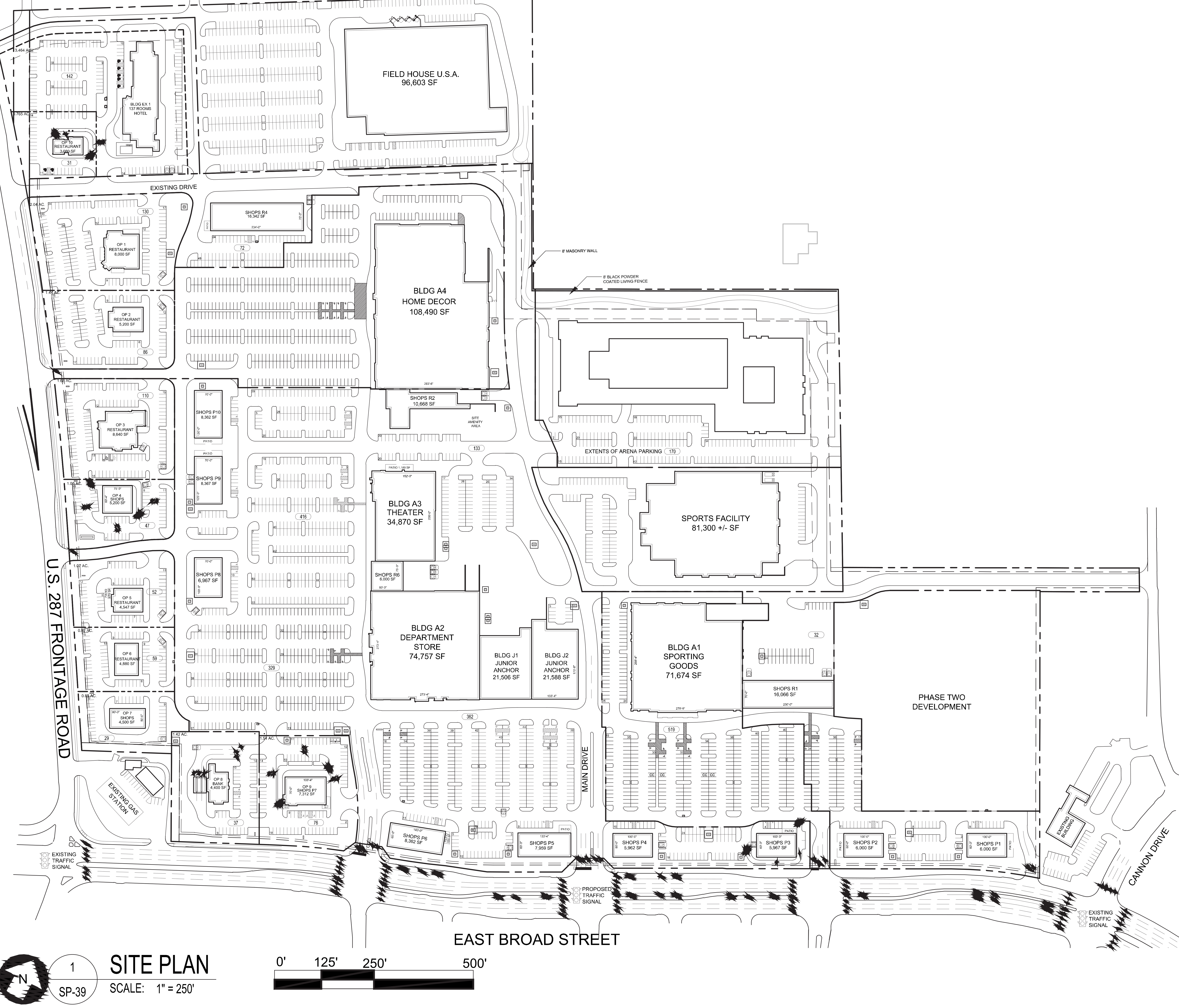 The Shops at Broad: site plan