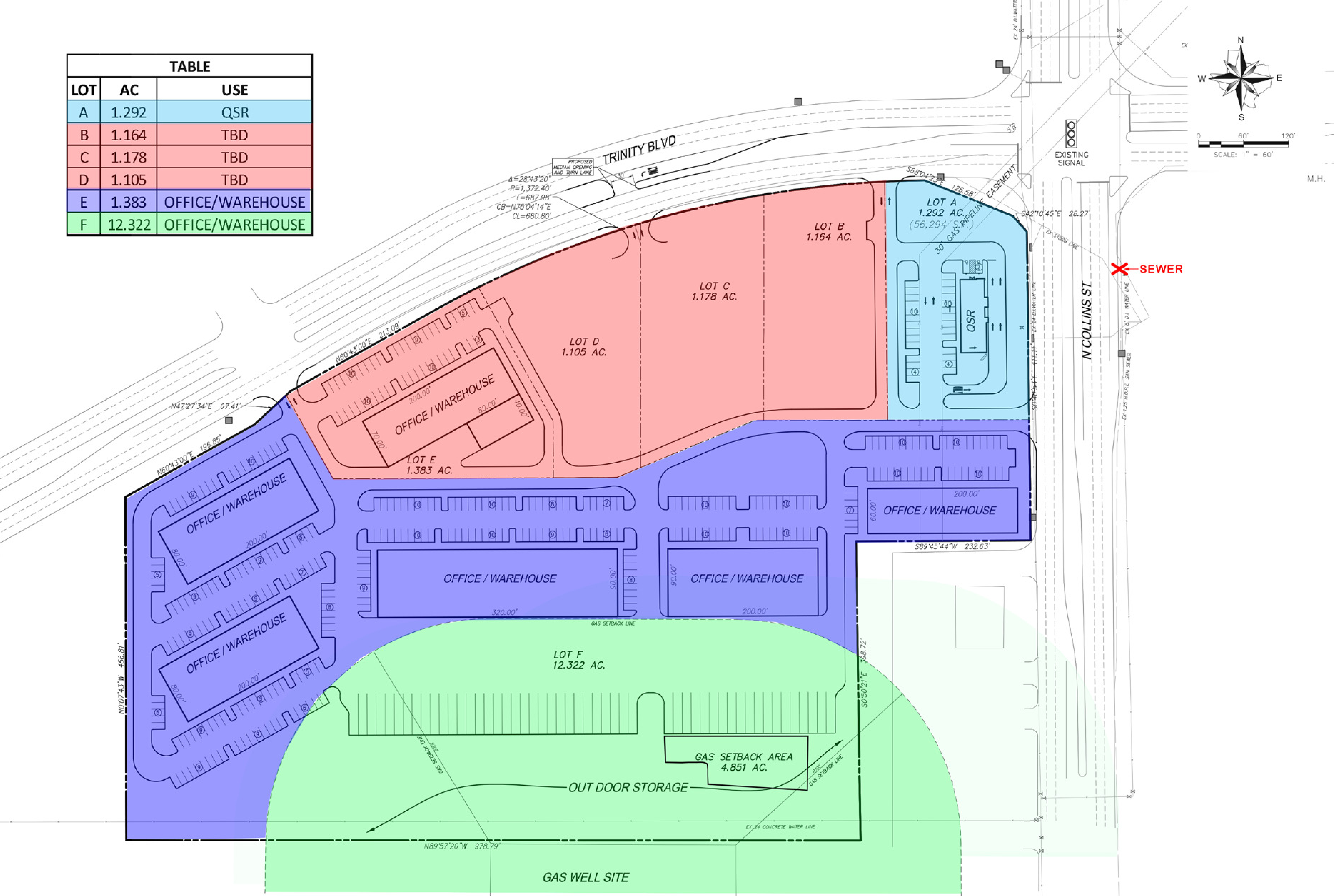 SWC FM 157 & Trinity Blvd: site plan