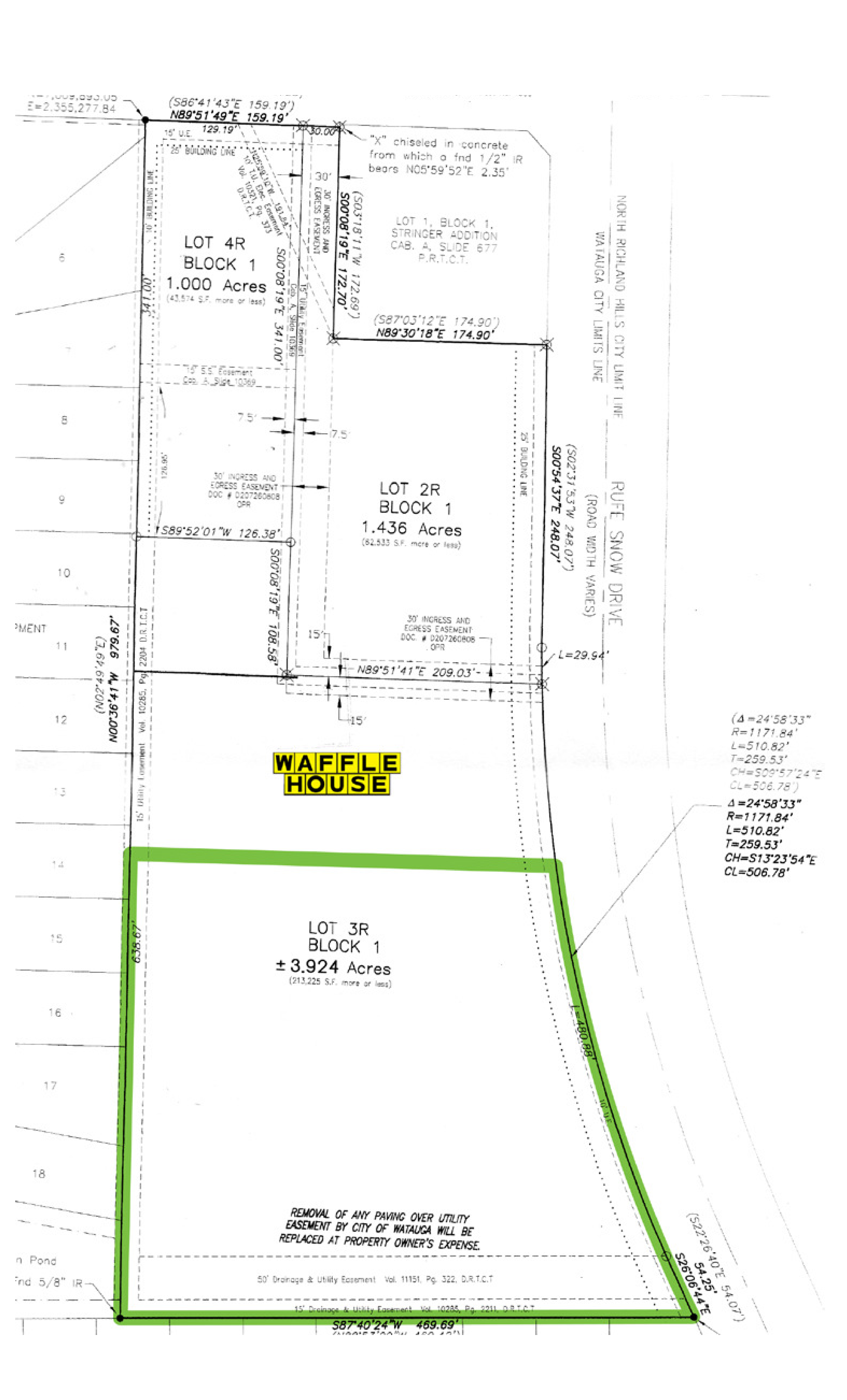 SWQ Rufe Snow Dr & Bursey Rd: site plan