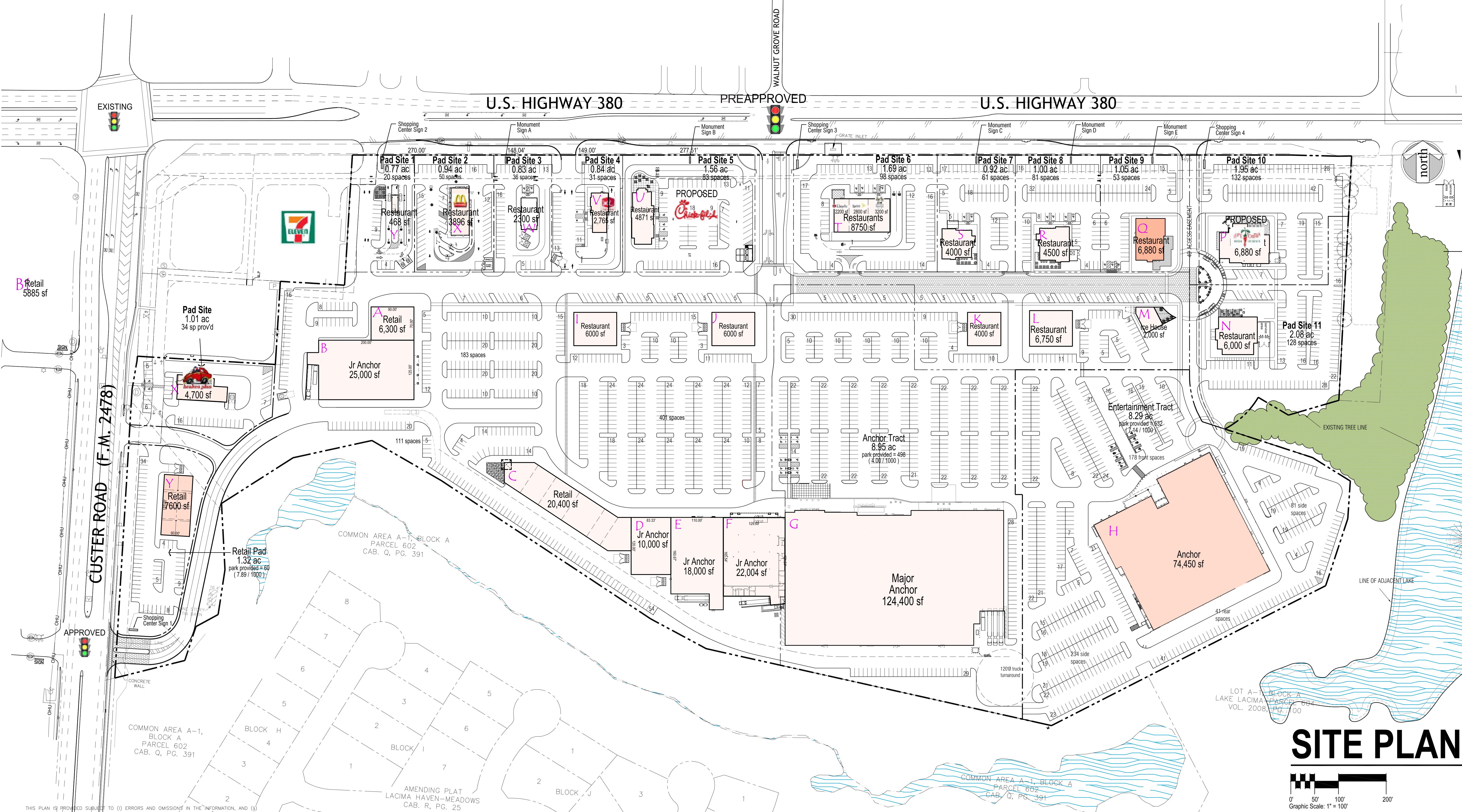 The Avenue at McKinney: site plan