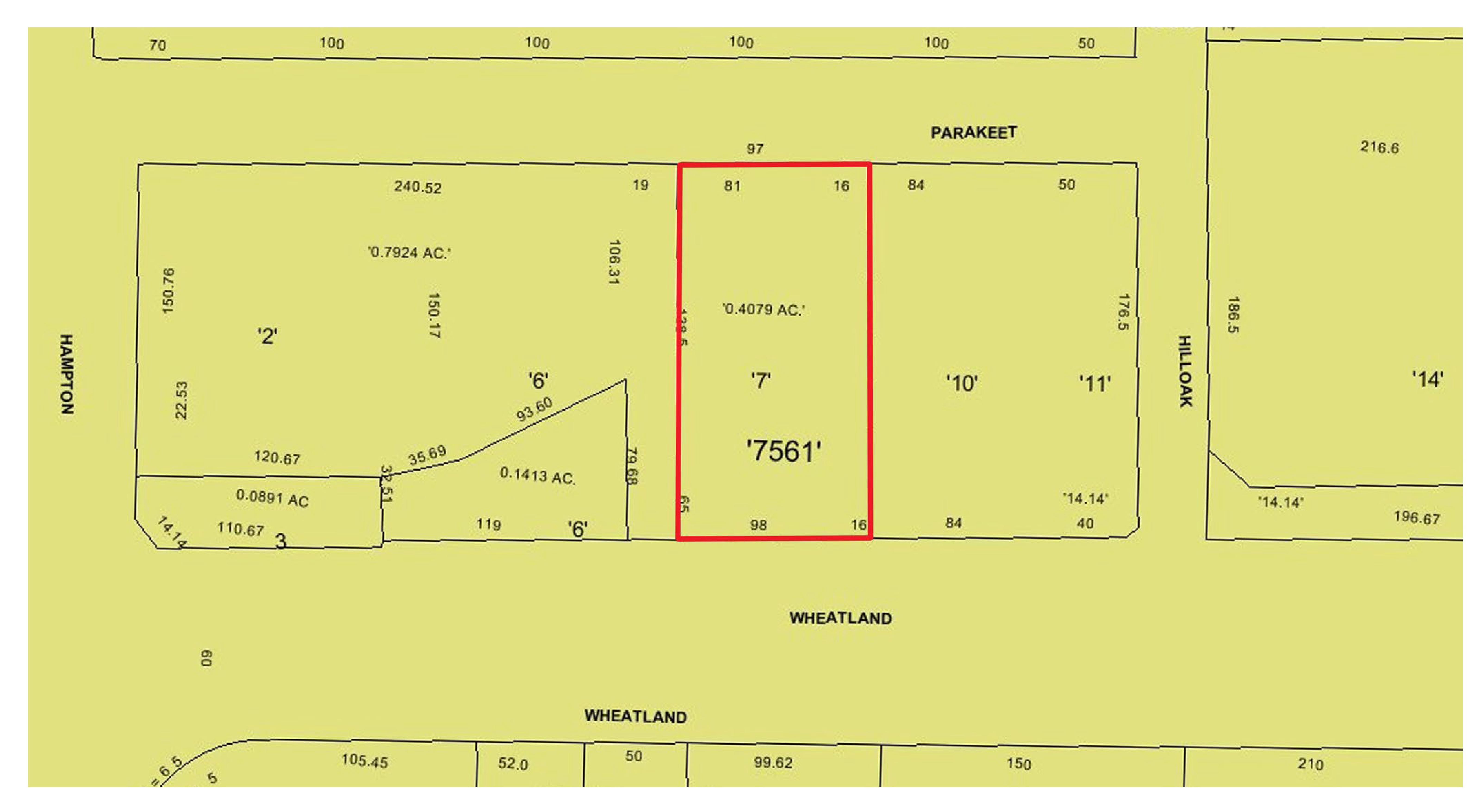 Wheatland at Hampton: site plan