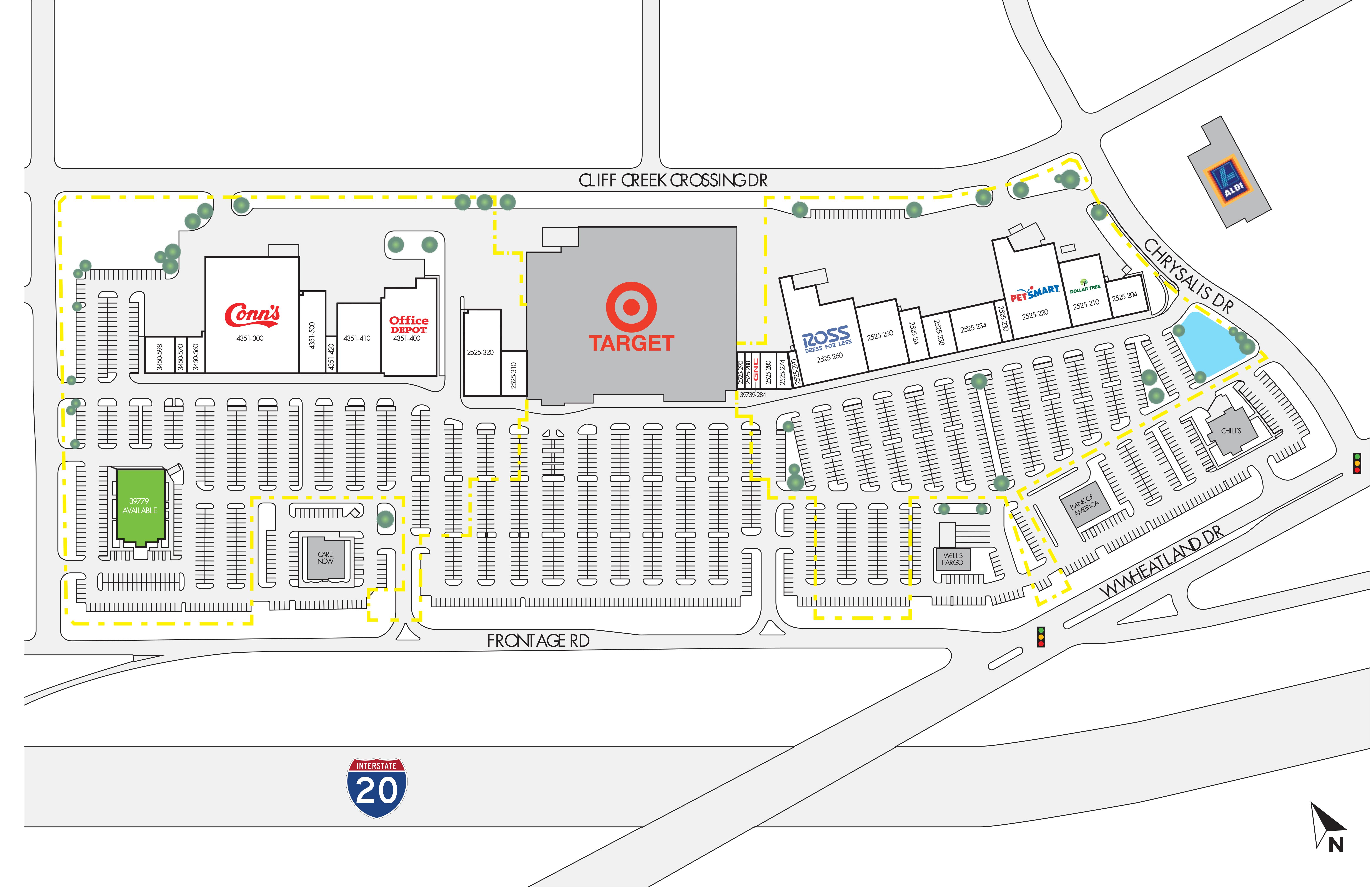 Wheatland Town Crossing: site plan