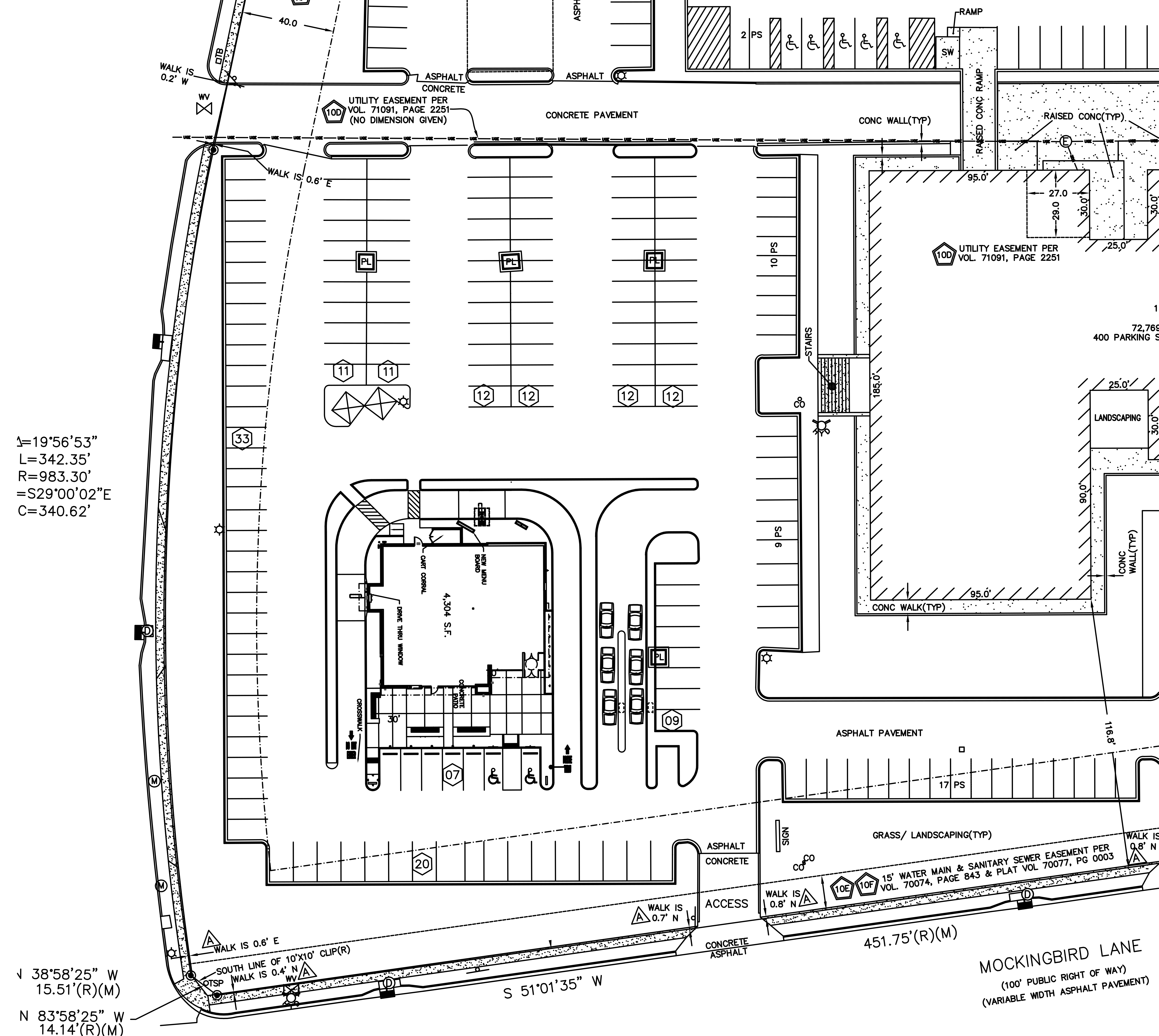 1341 W Mockingbird Ln - W Mockingbird Ln Pad Site: site plan