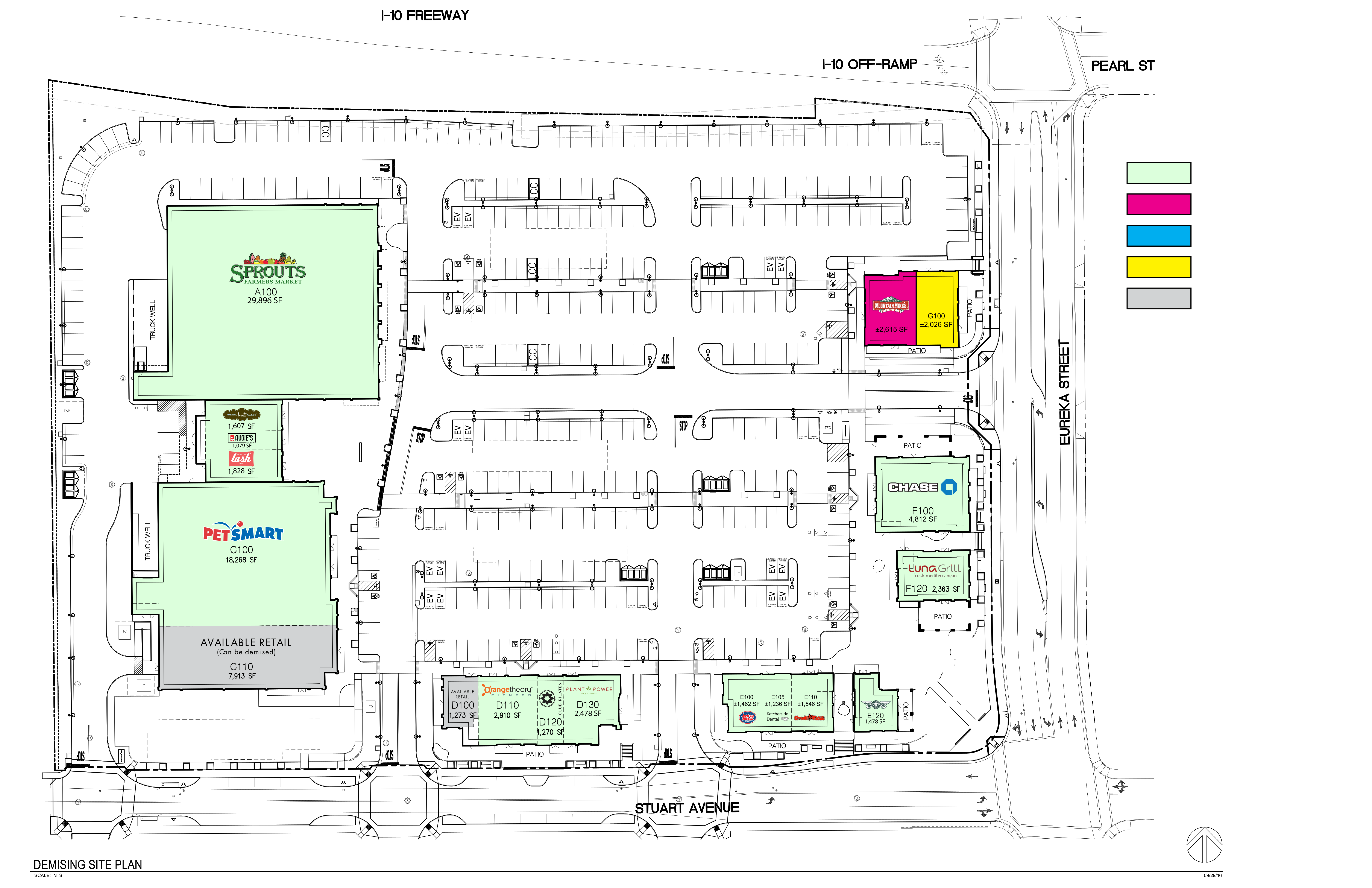 Redlands Packing House District: site plan