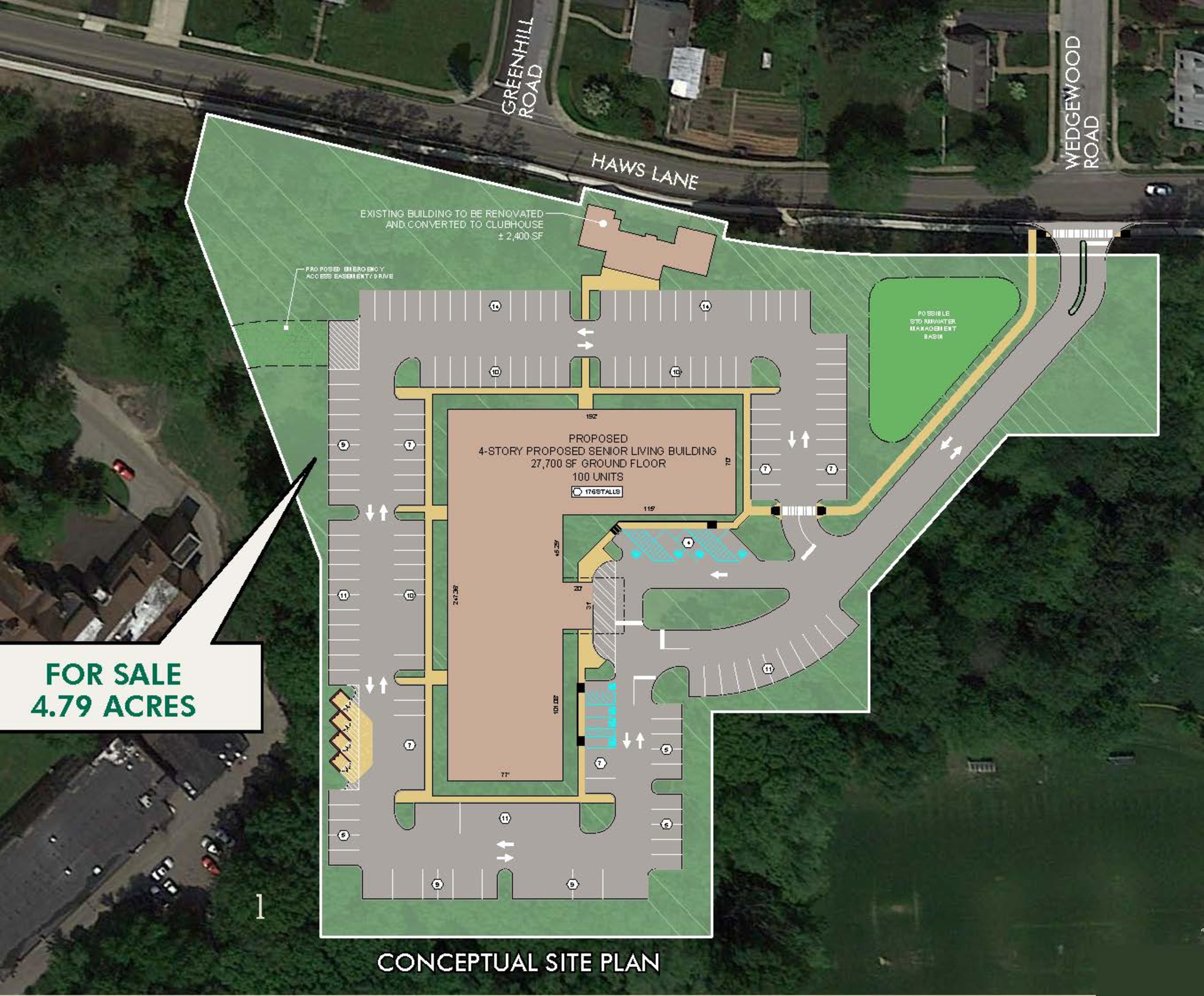 FLOURTOWN HAWS LANE: site plan