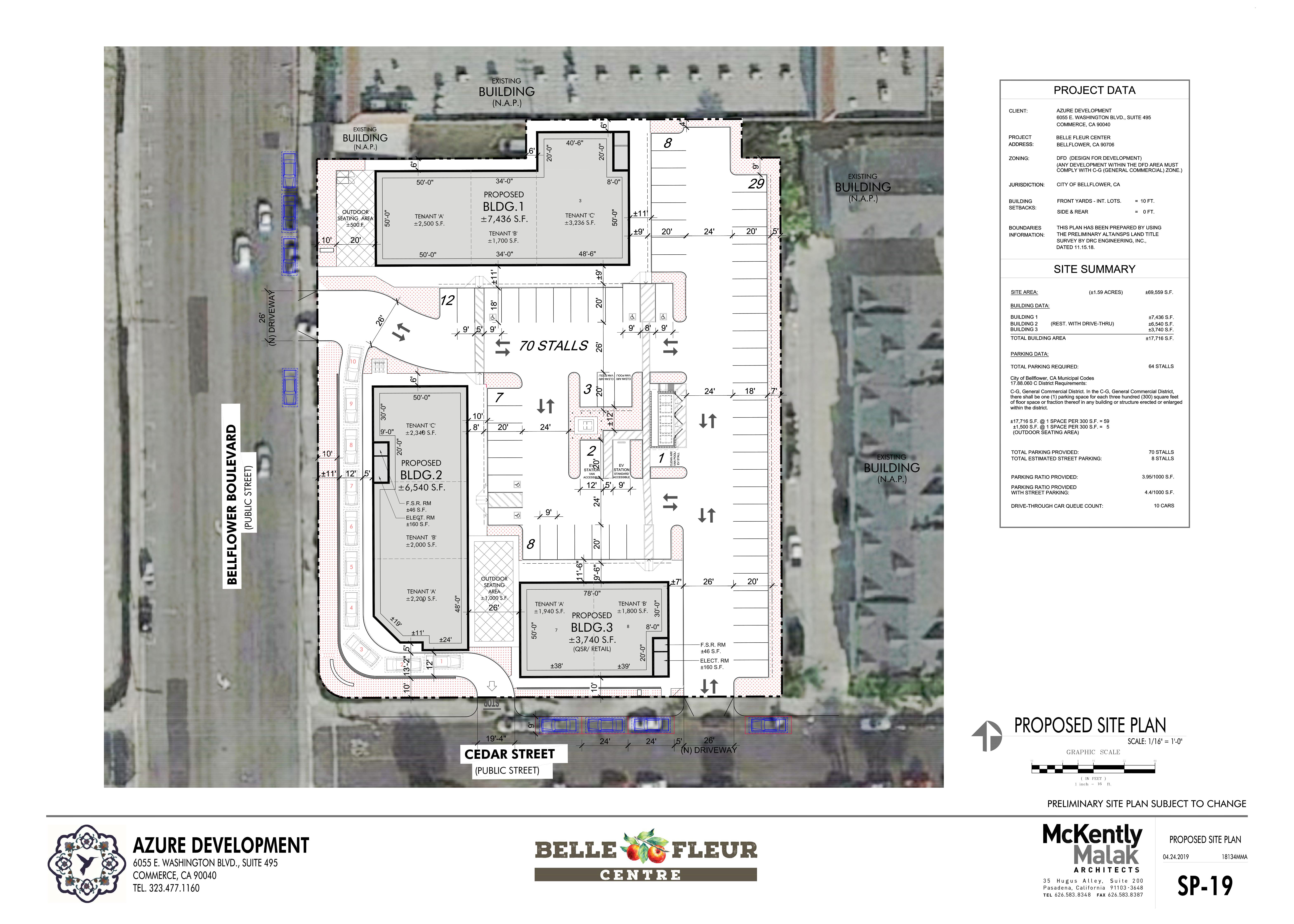 Belle Fleur Centre: site plan