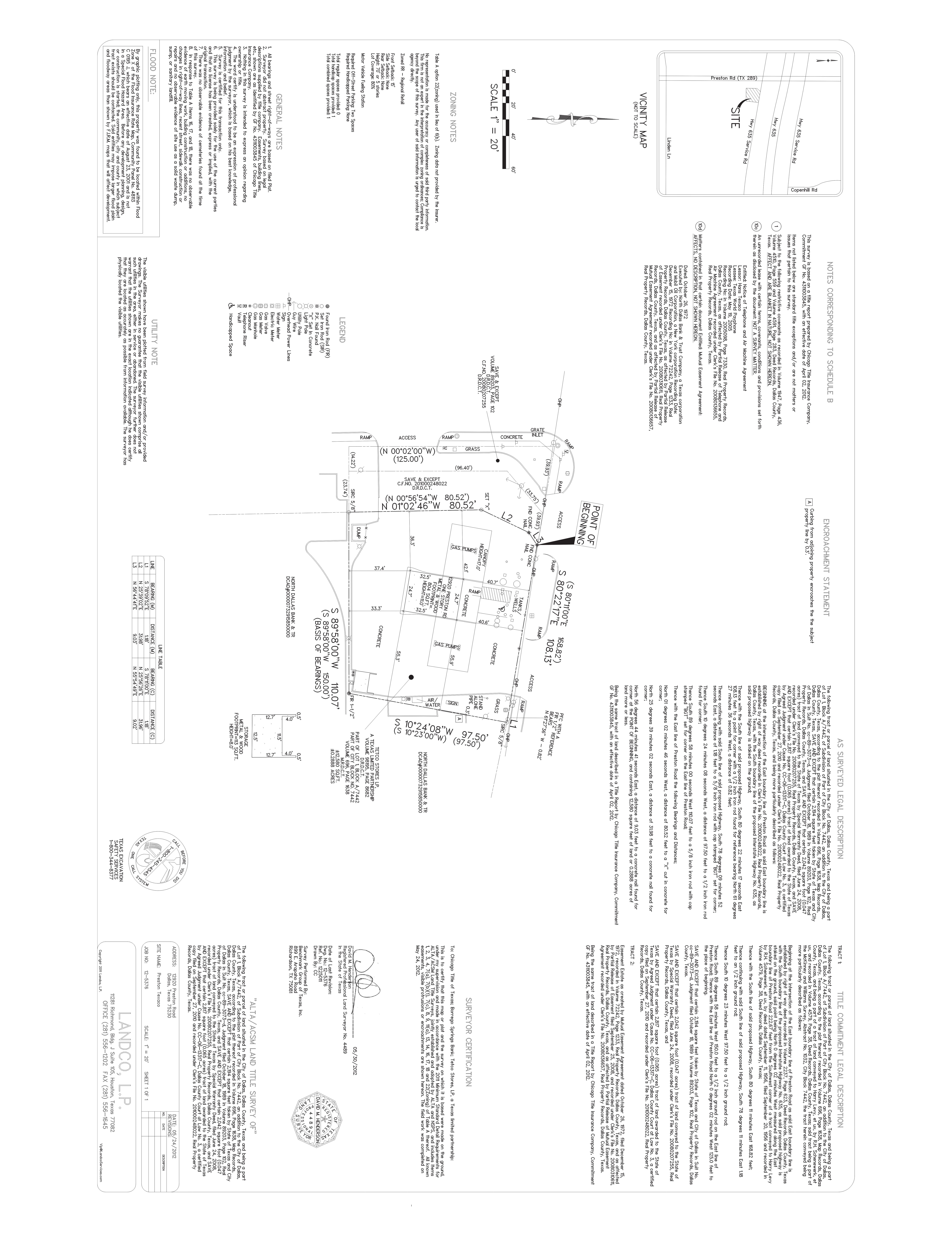 12920 Preston Road: site plan