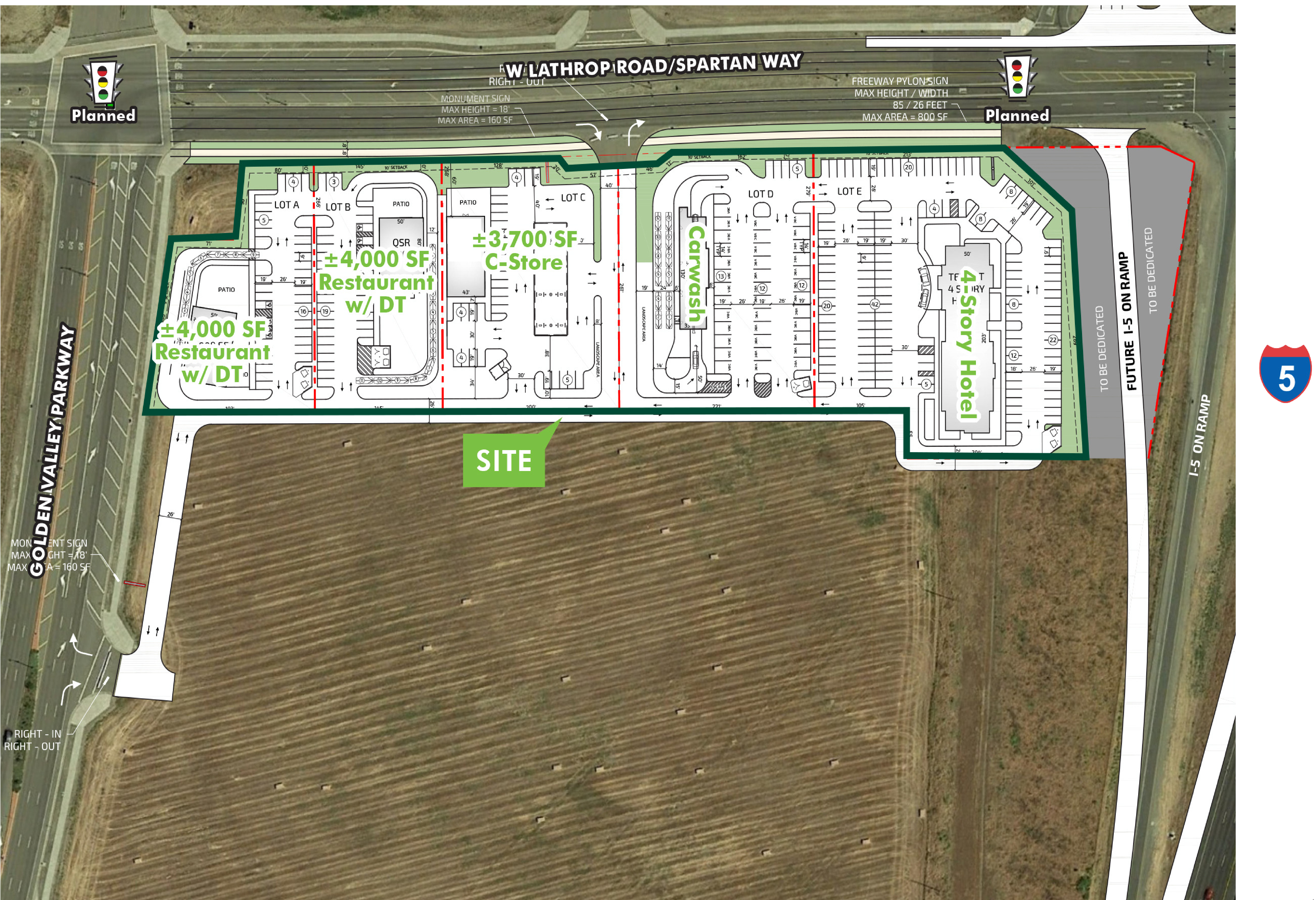 Highway Commercial Pad - I-5 & Lathrop: site plan