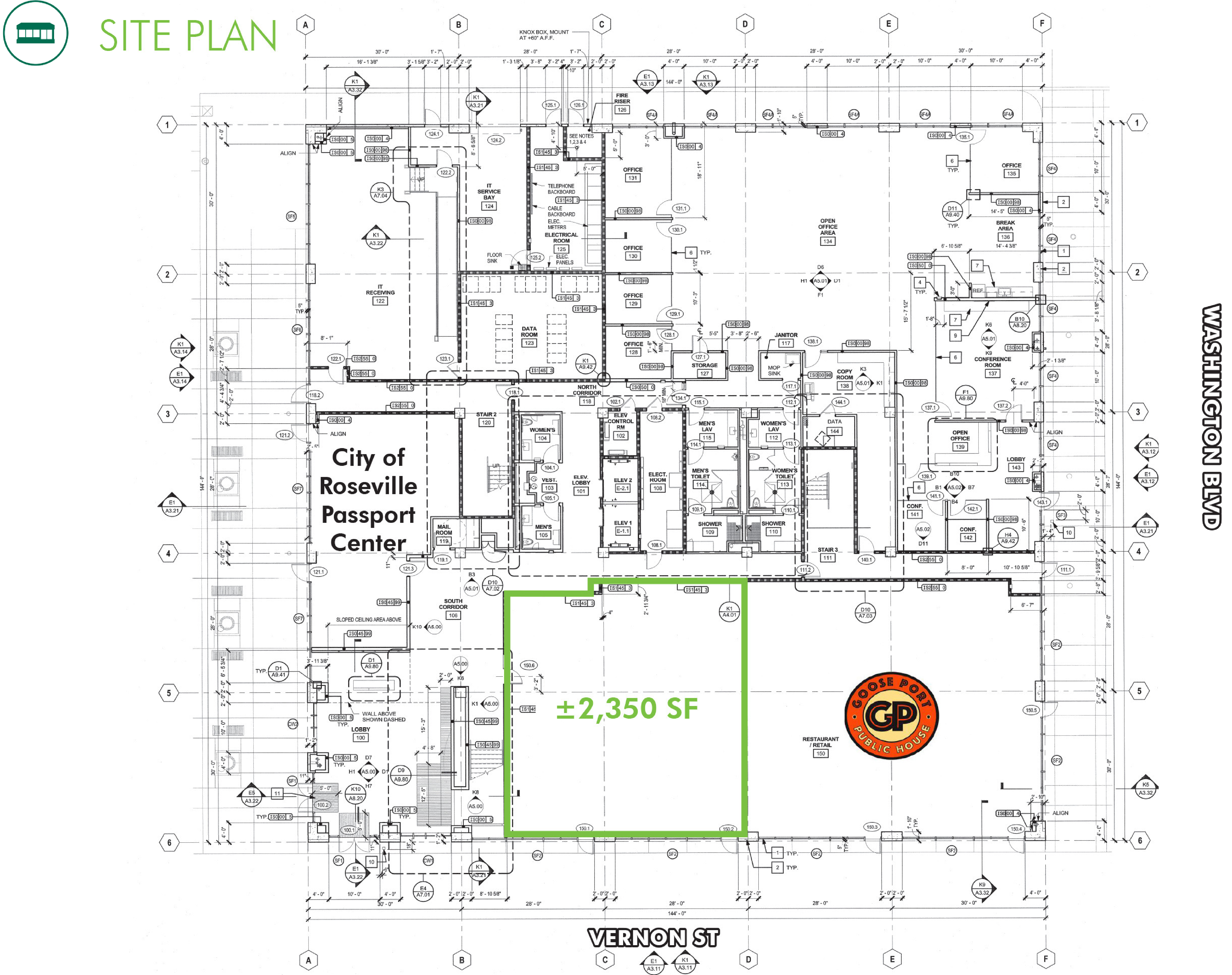 High Identity Downtown Retail - 316 Vernon Street: site plan