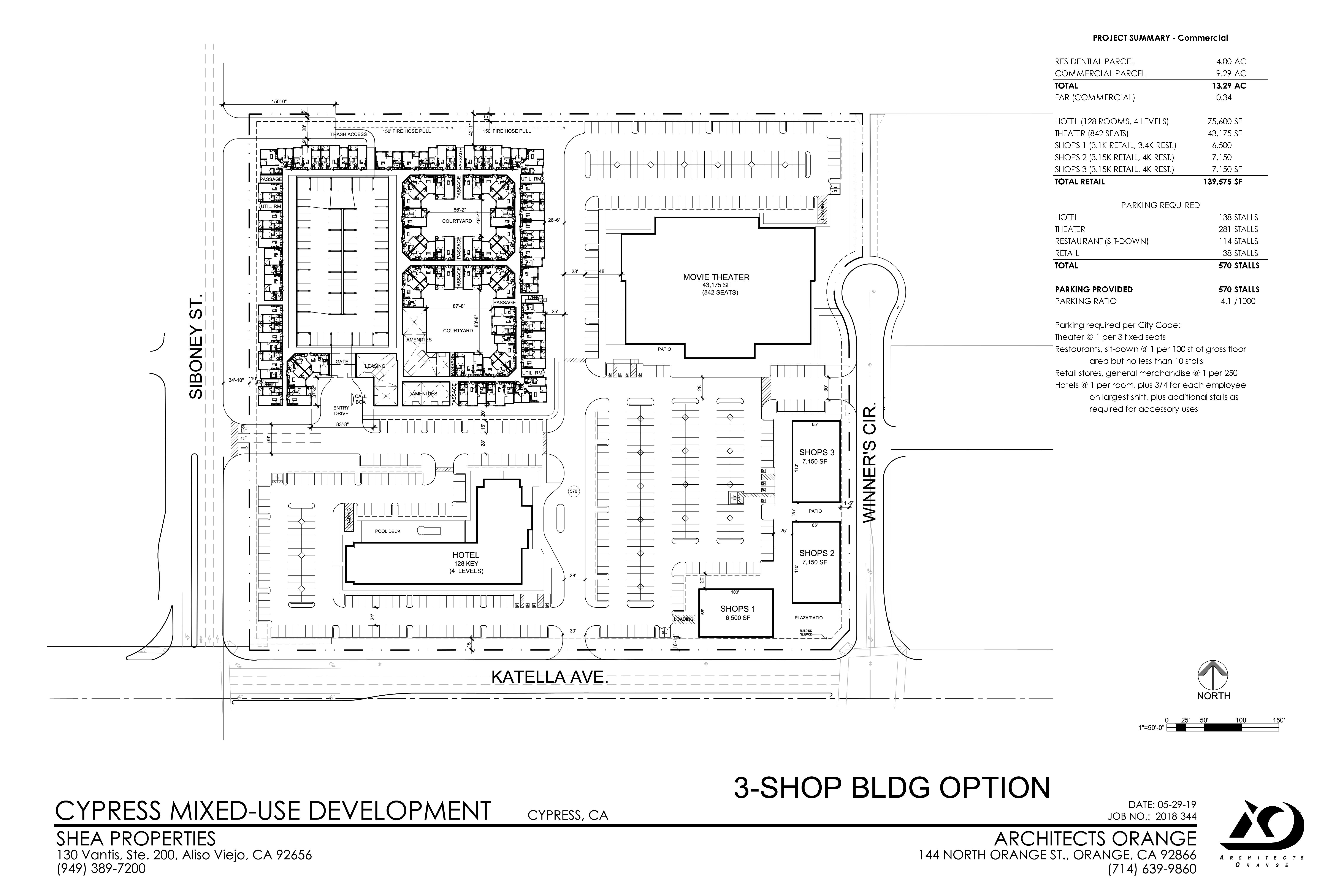 Cypress City Center: site plan