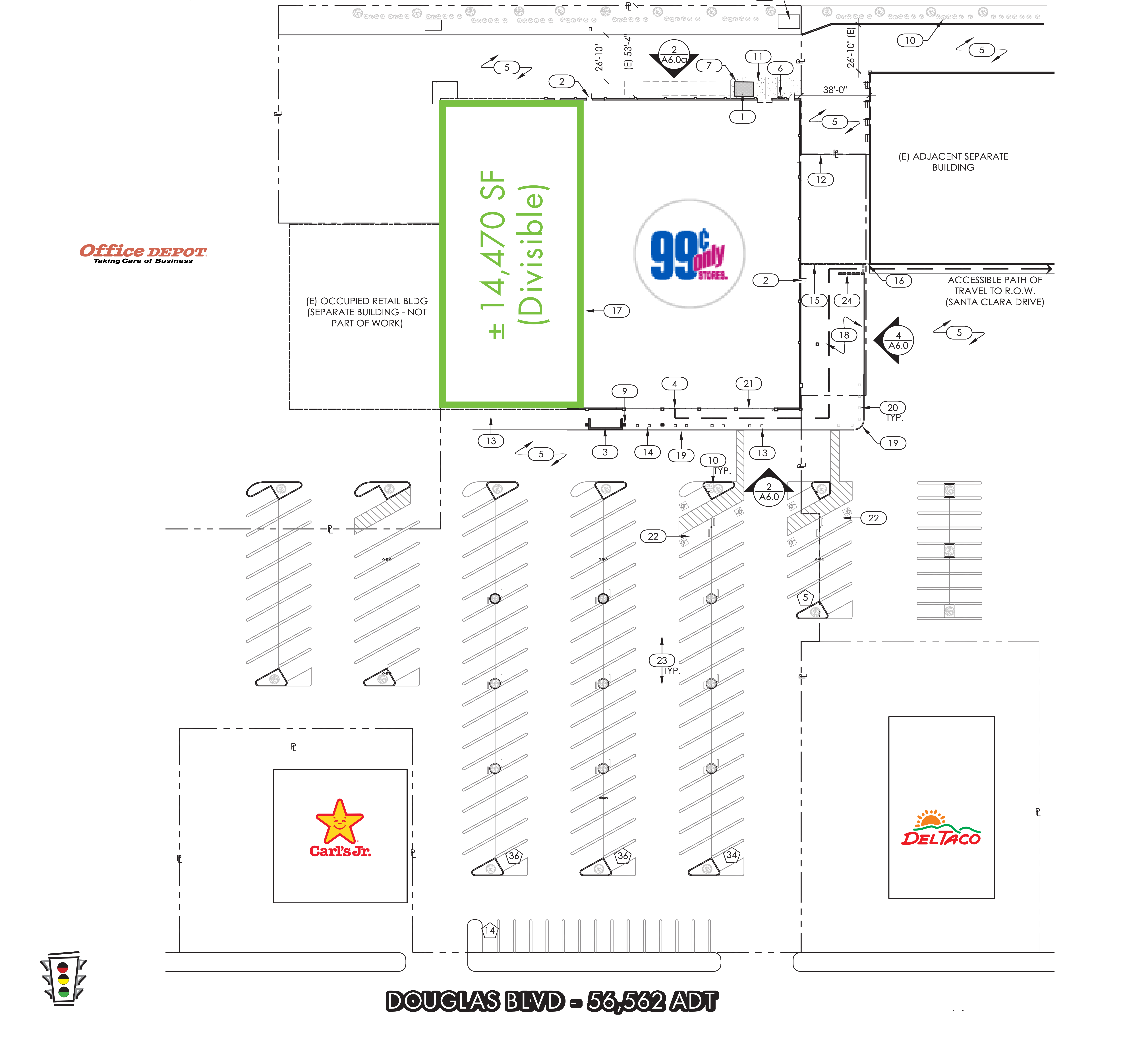 Douglas Plaza Junior Anchor: site plan