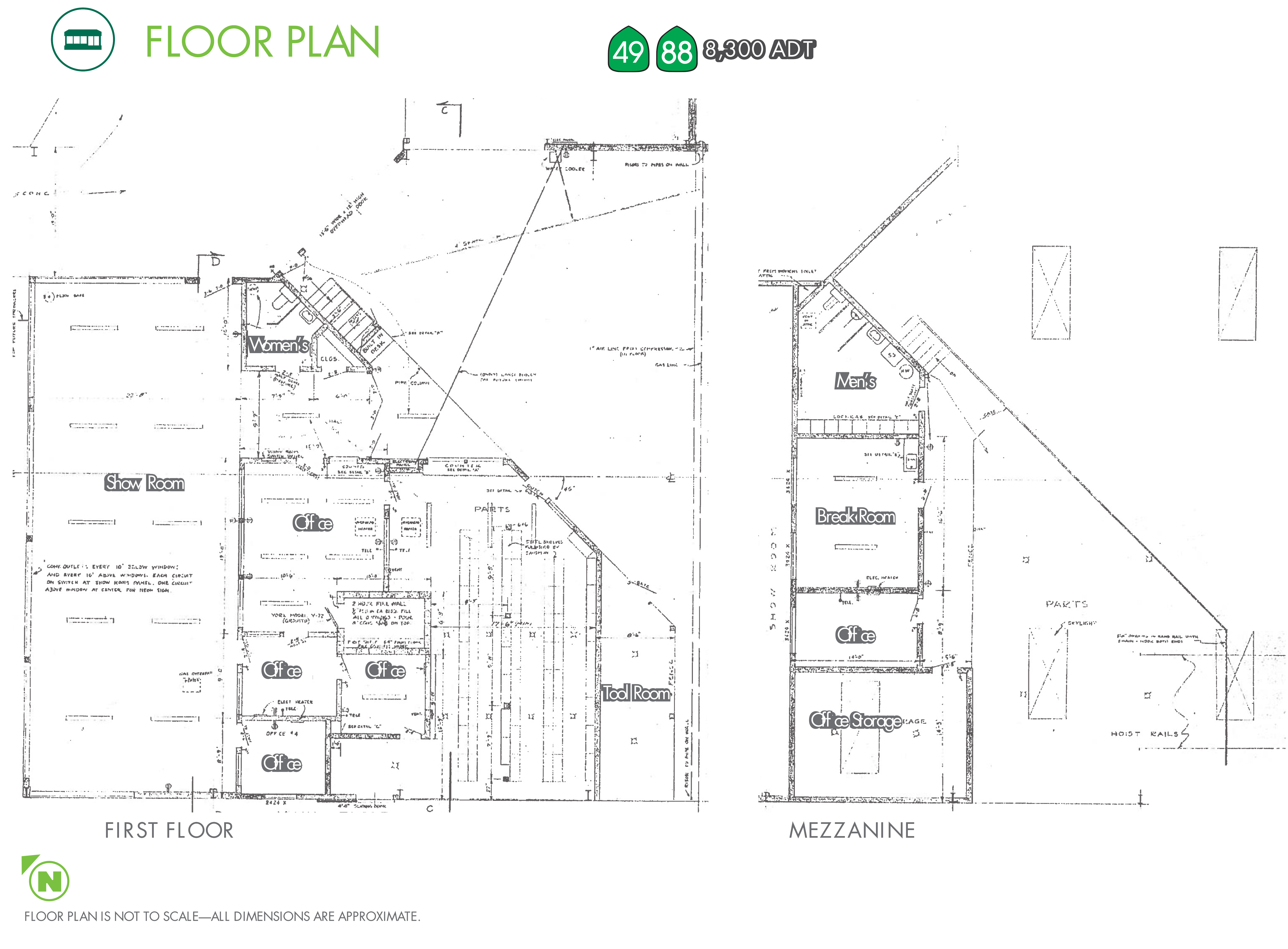 Freestanding Retail Automotive Building: site plan