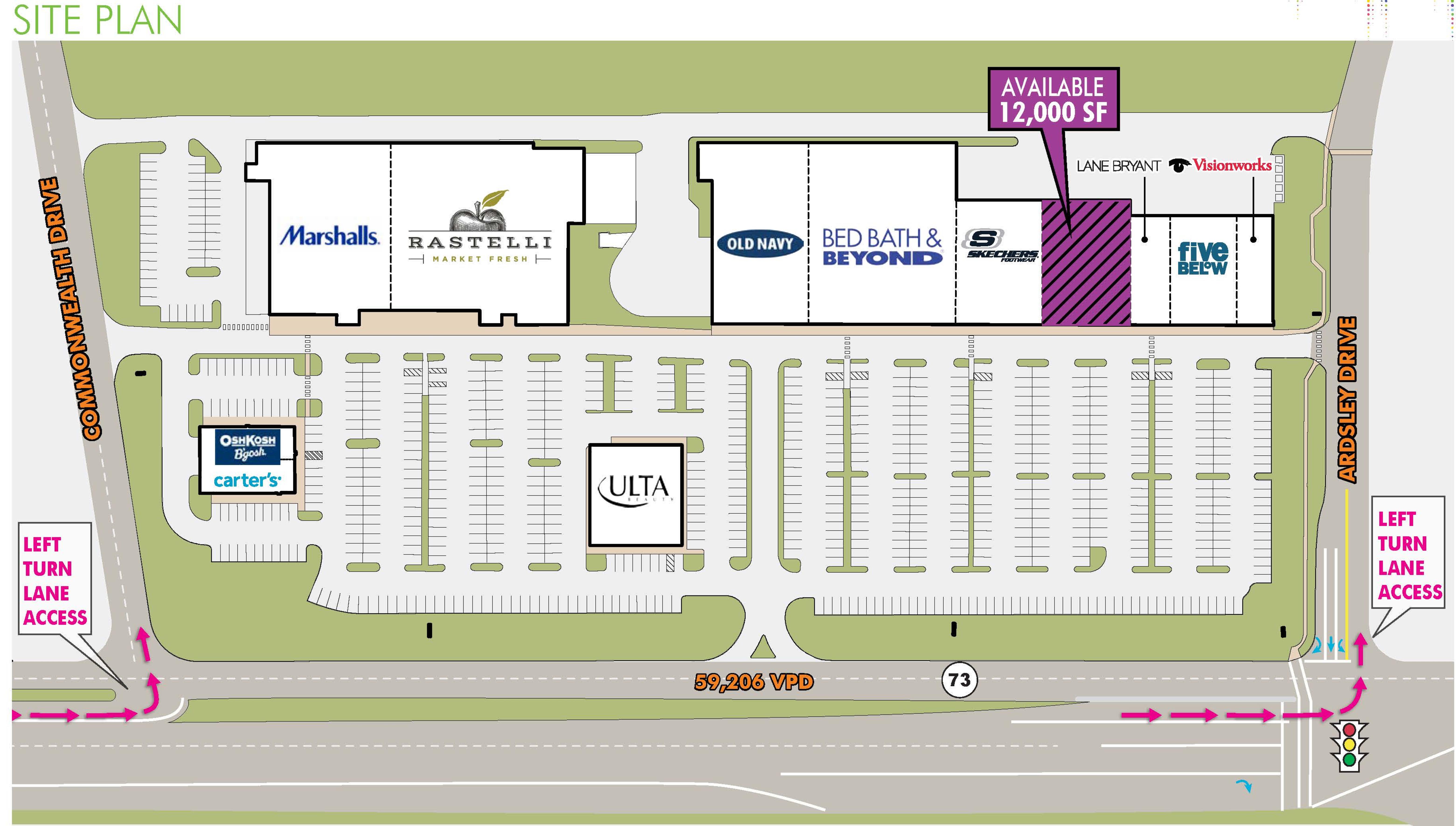 Willow Ridge Plaza: site plan