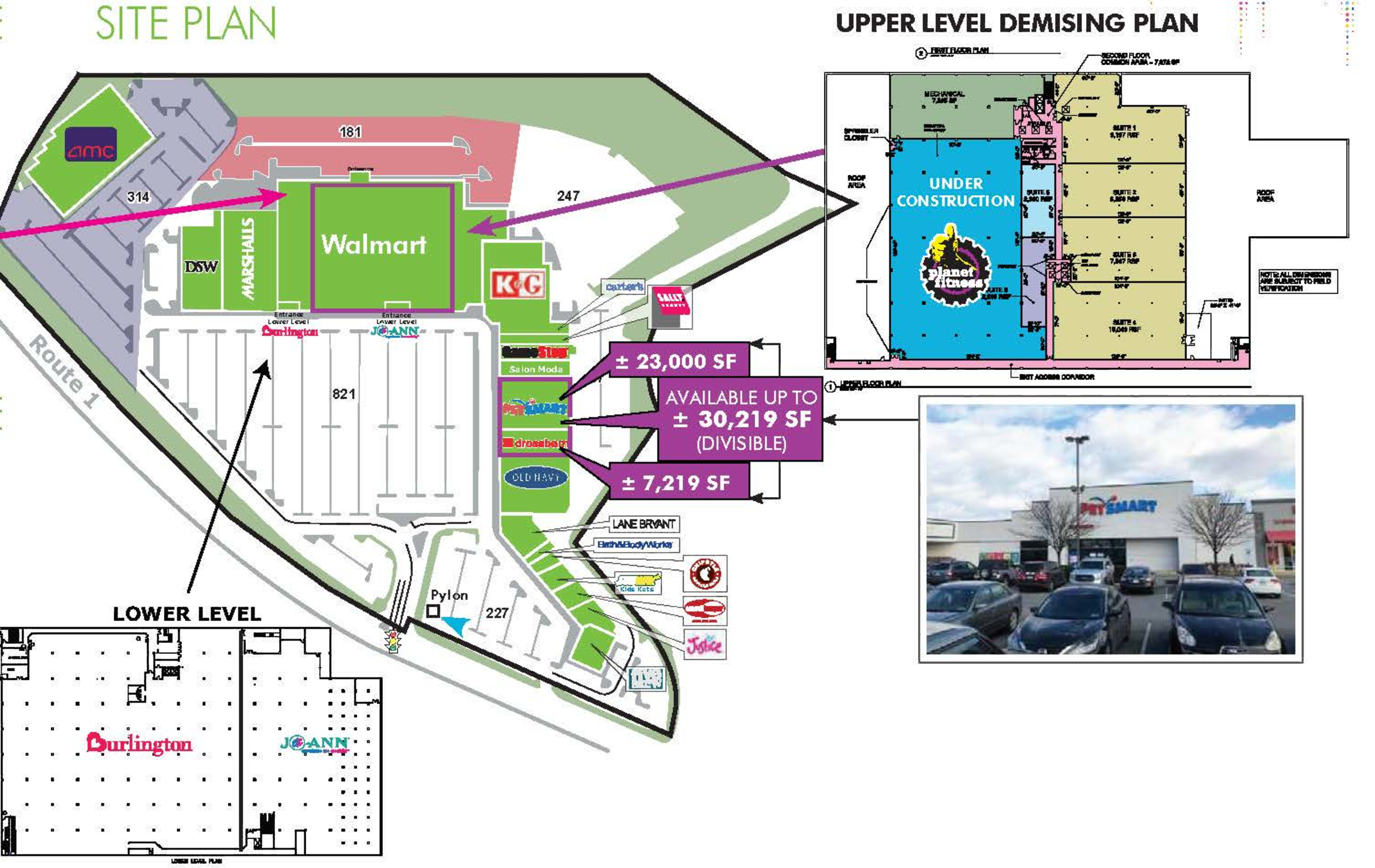 Marple Crossroads Shopping Center: site plan