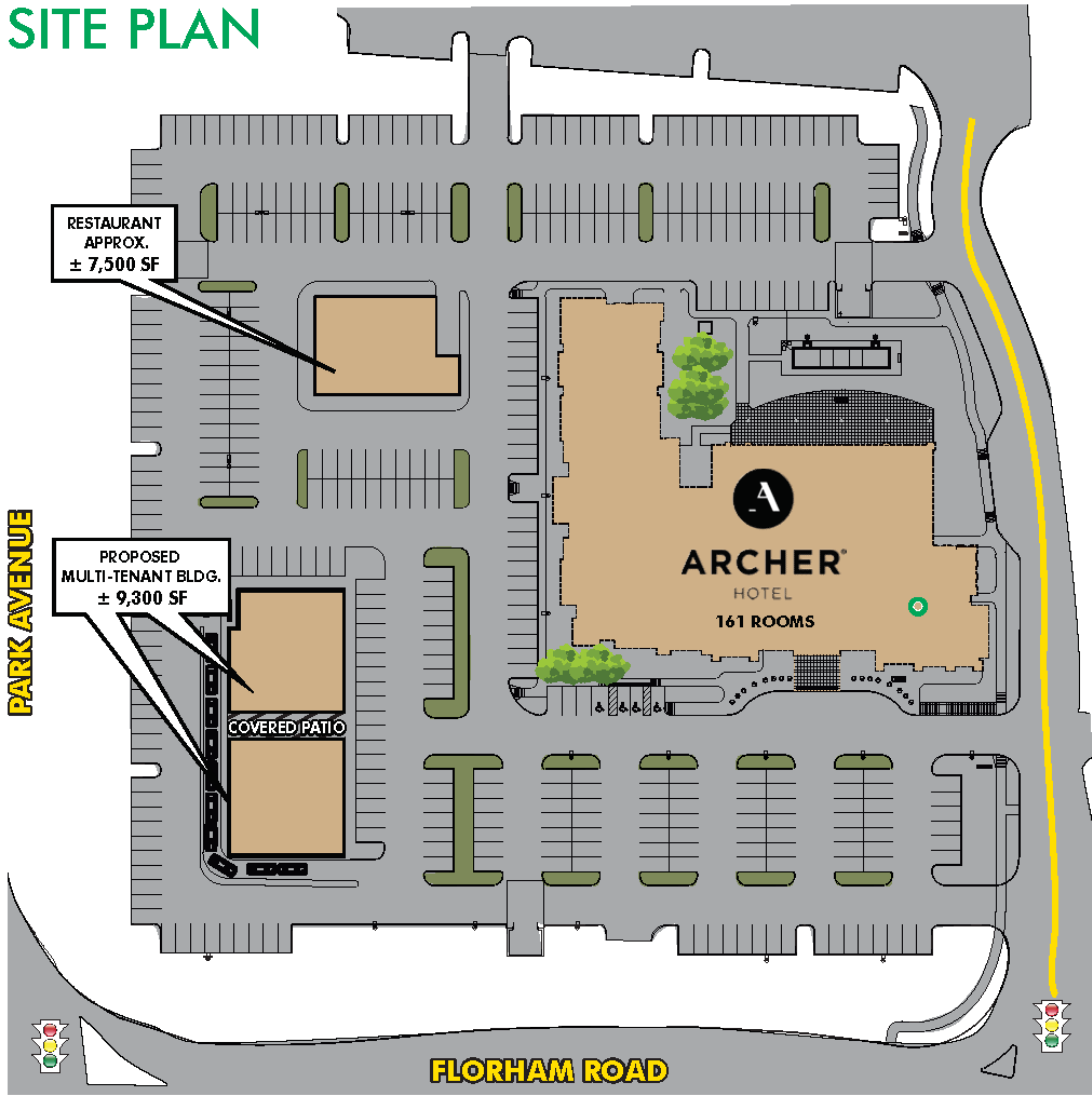 Restaurant Pads Available: site plan