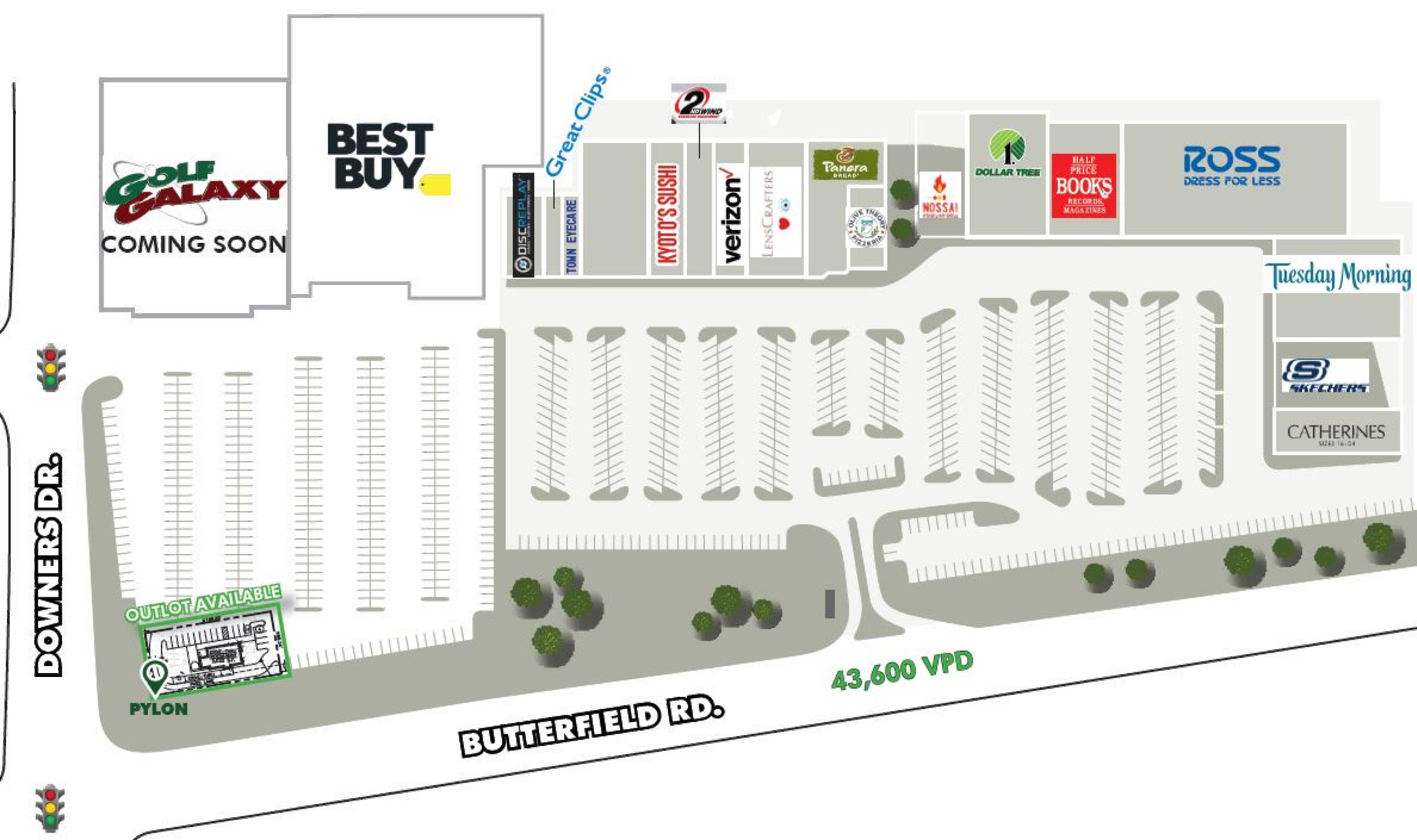 Butterfield Plaza: site plan
