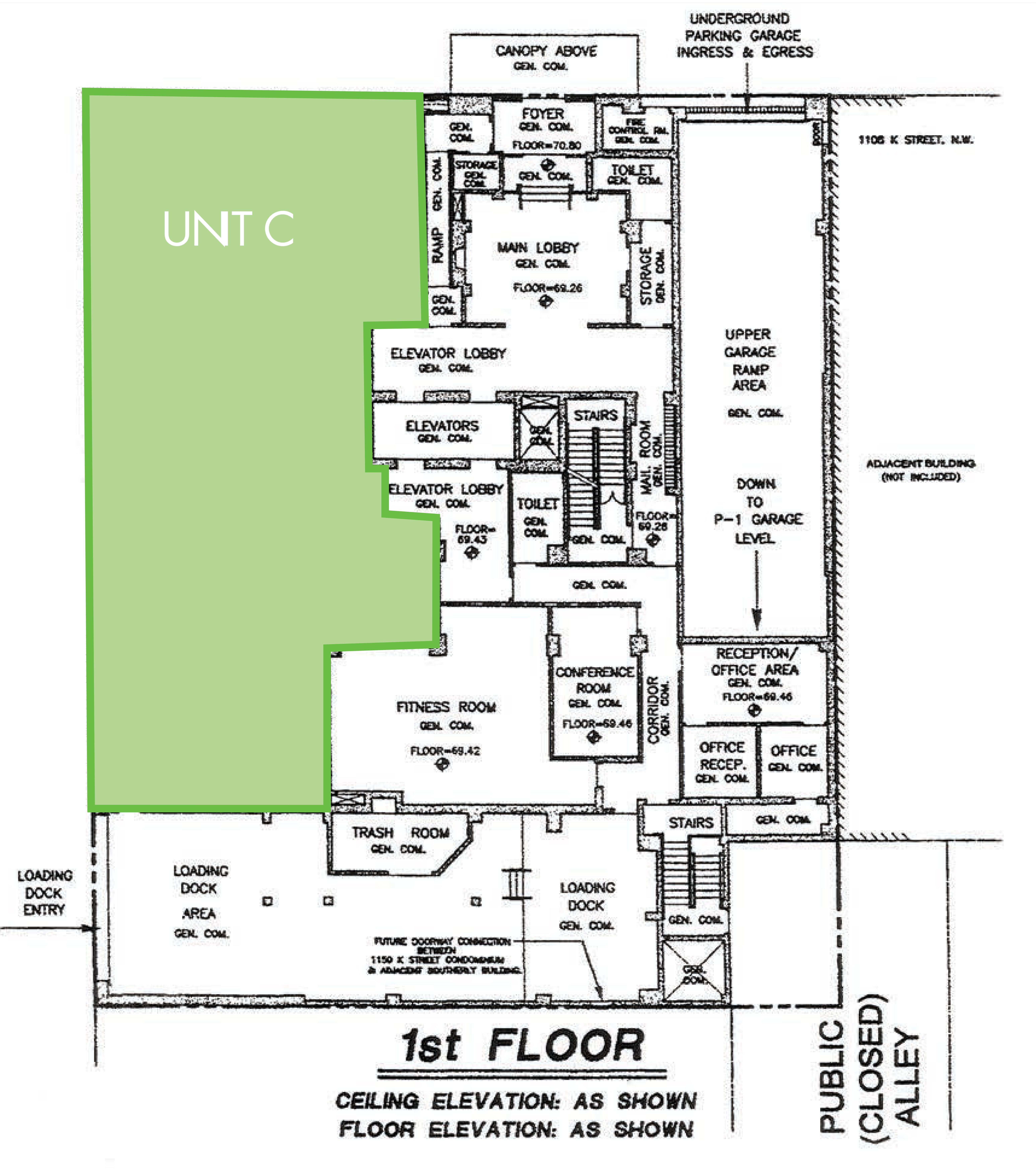 1150 K Street NW: site plan