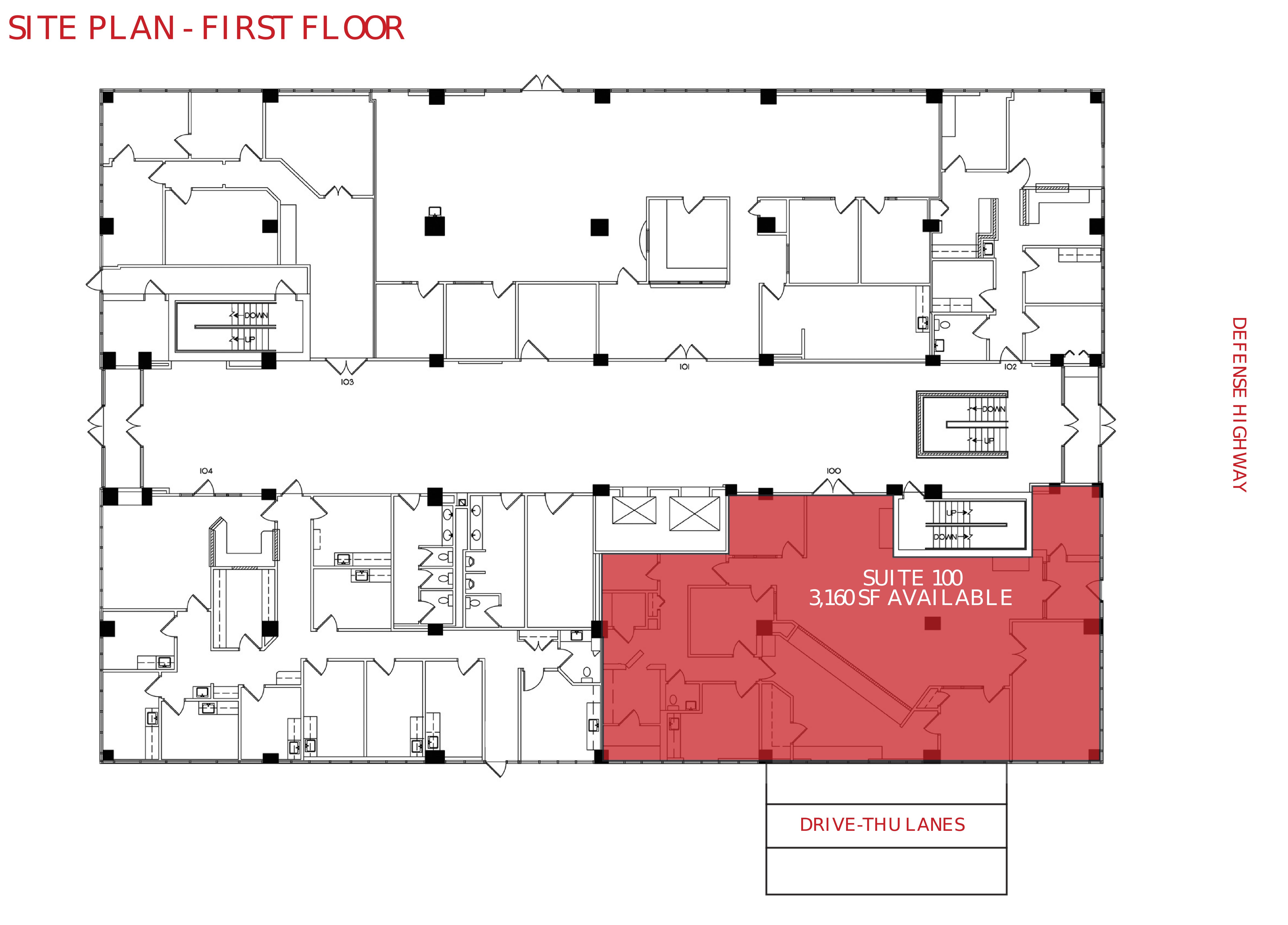 116 Defense Hwy: site plan