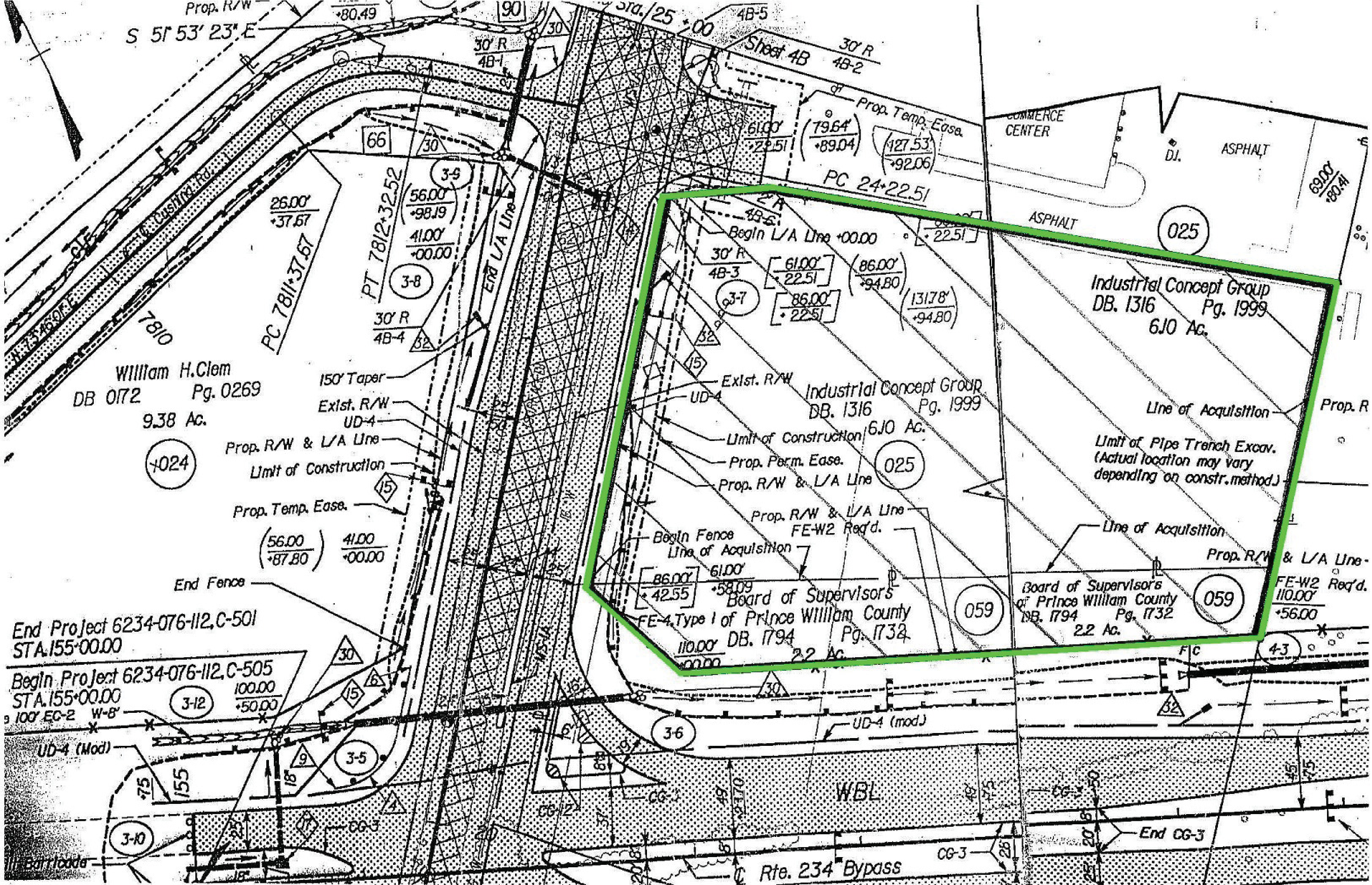 12017 Balls Ford Road: site plan
