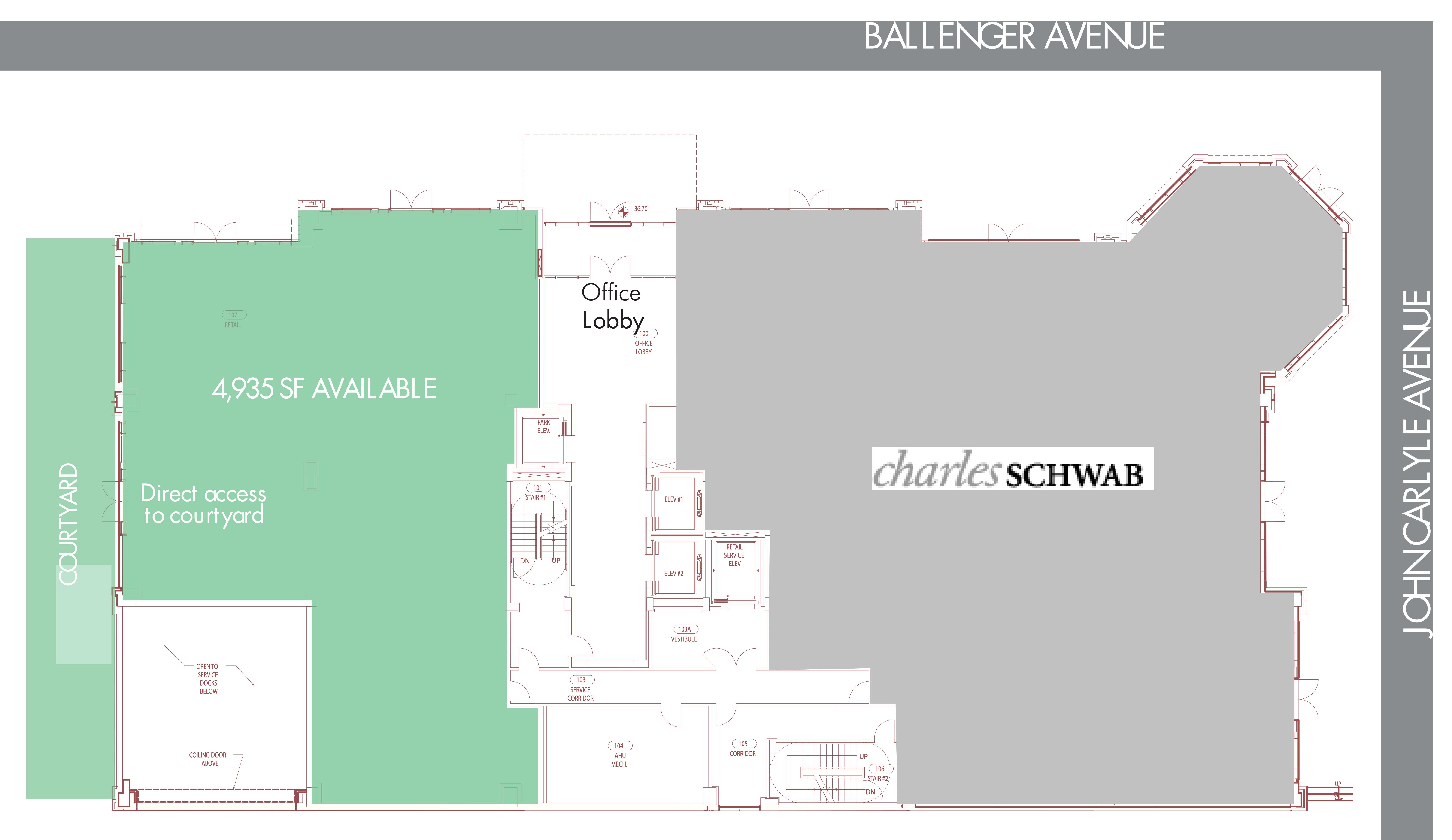 1920 Ballenger Avenue: site plan