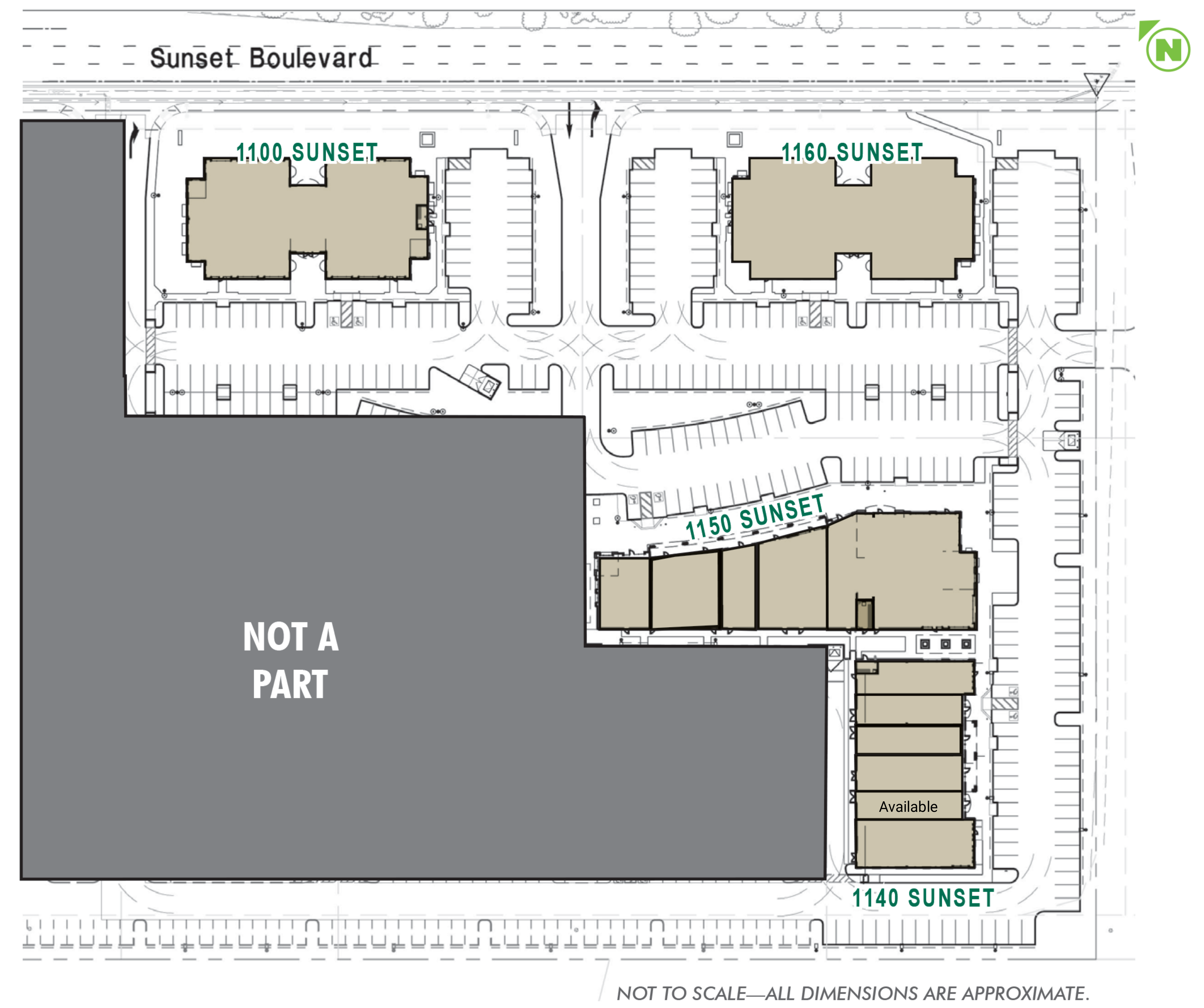 Sunset West Retail: site plan