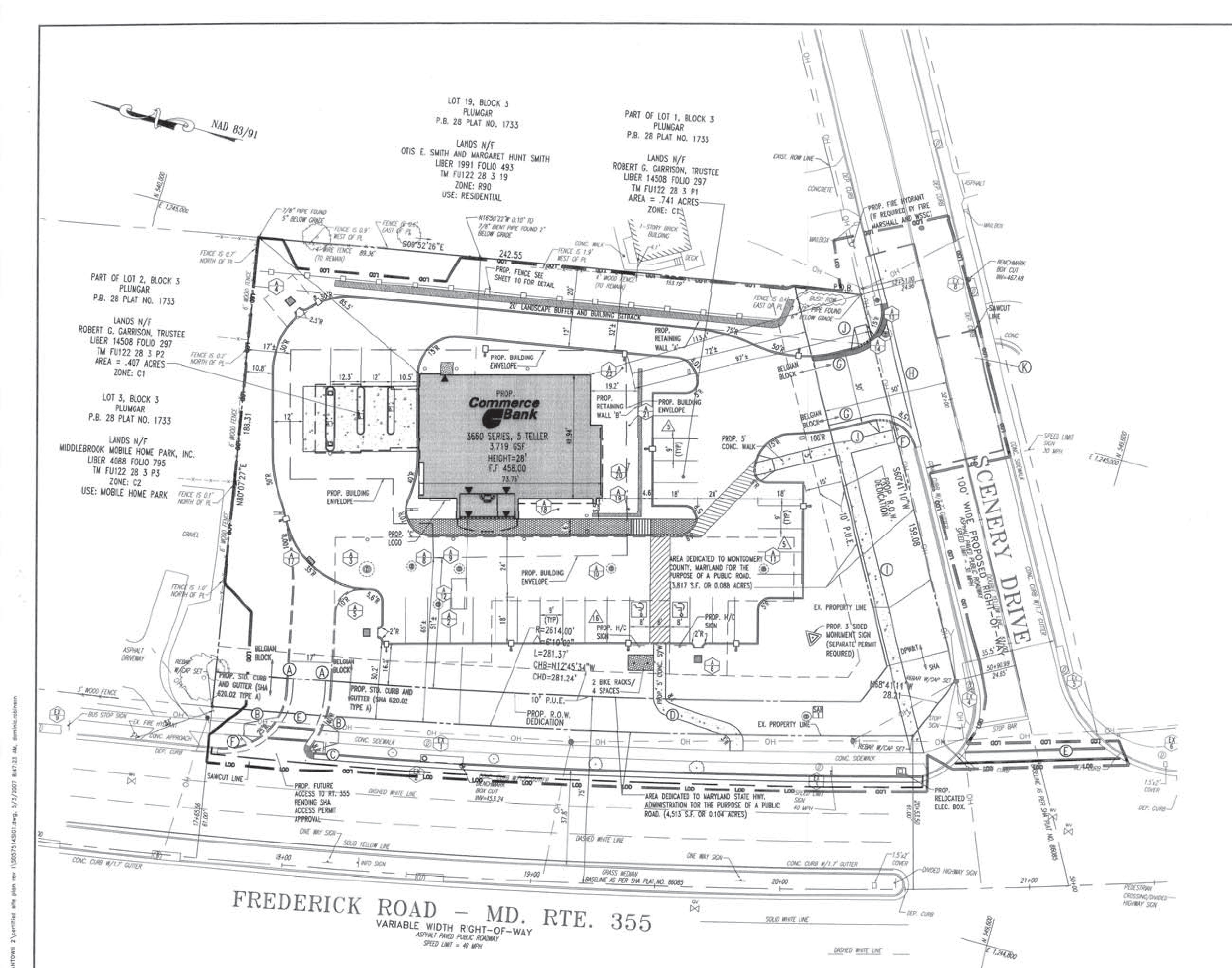 19501 N Frederick Rd: site plan